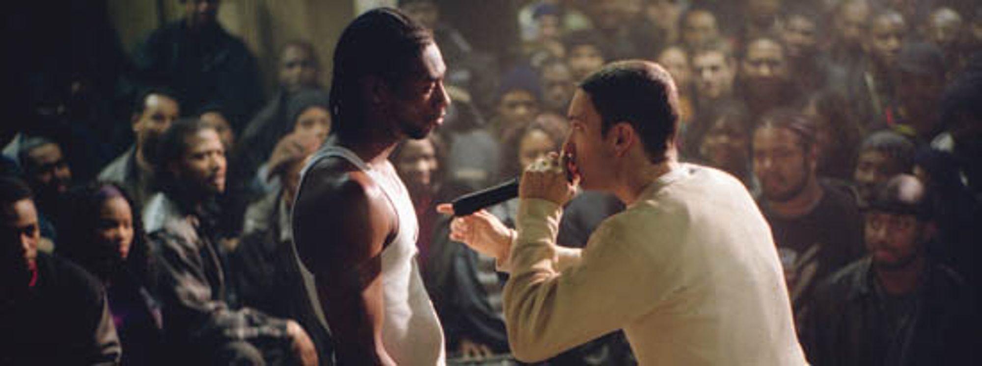 Her fra den siste rap-duellen i filmen