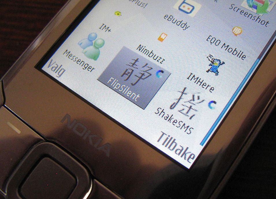Shake SMS og Flip silent gir S60-mobilen nye funksjoner.