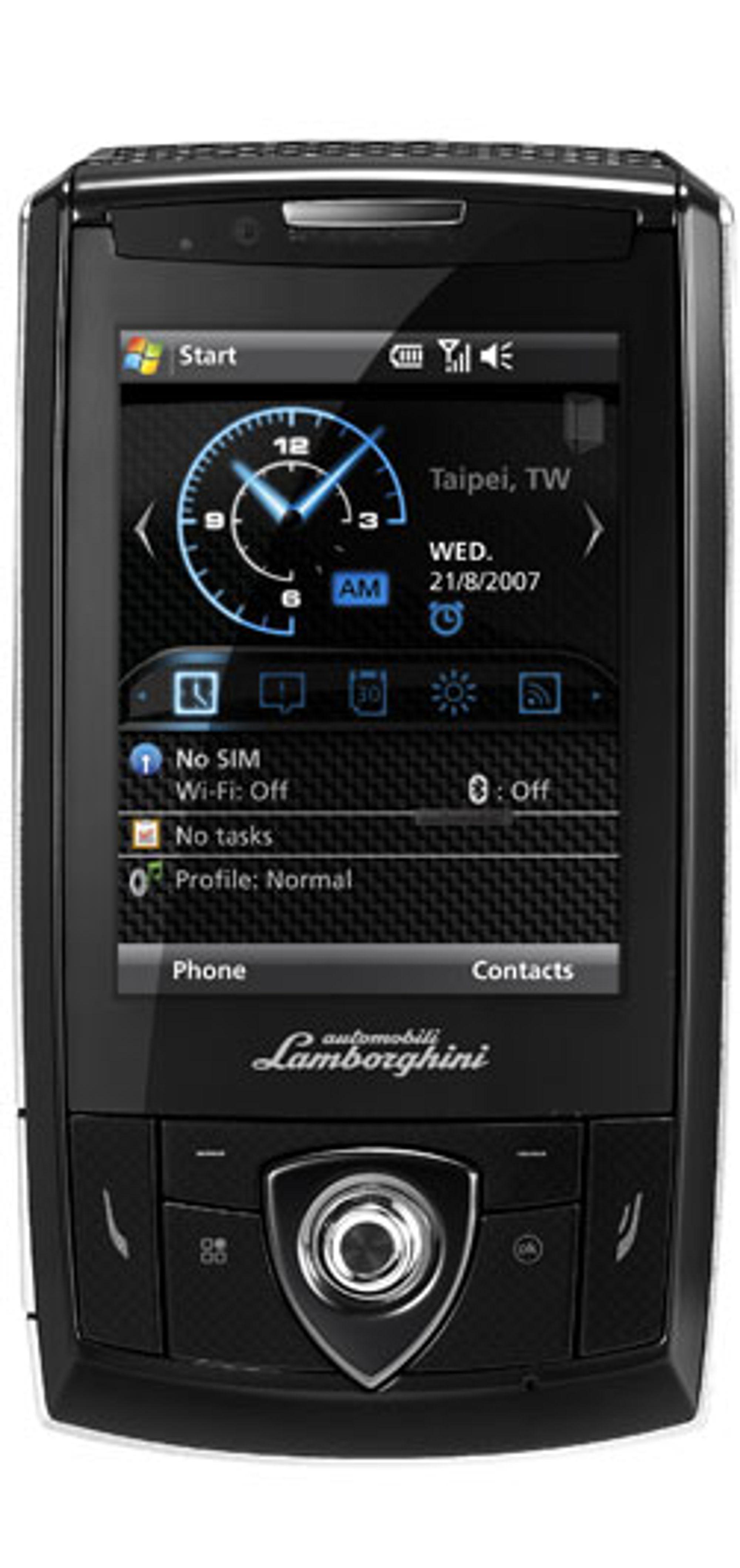 Lamborghini-mobilen har fått designelementer fra Lamborghinis biler og logo.