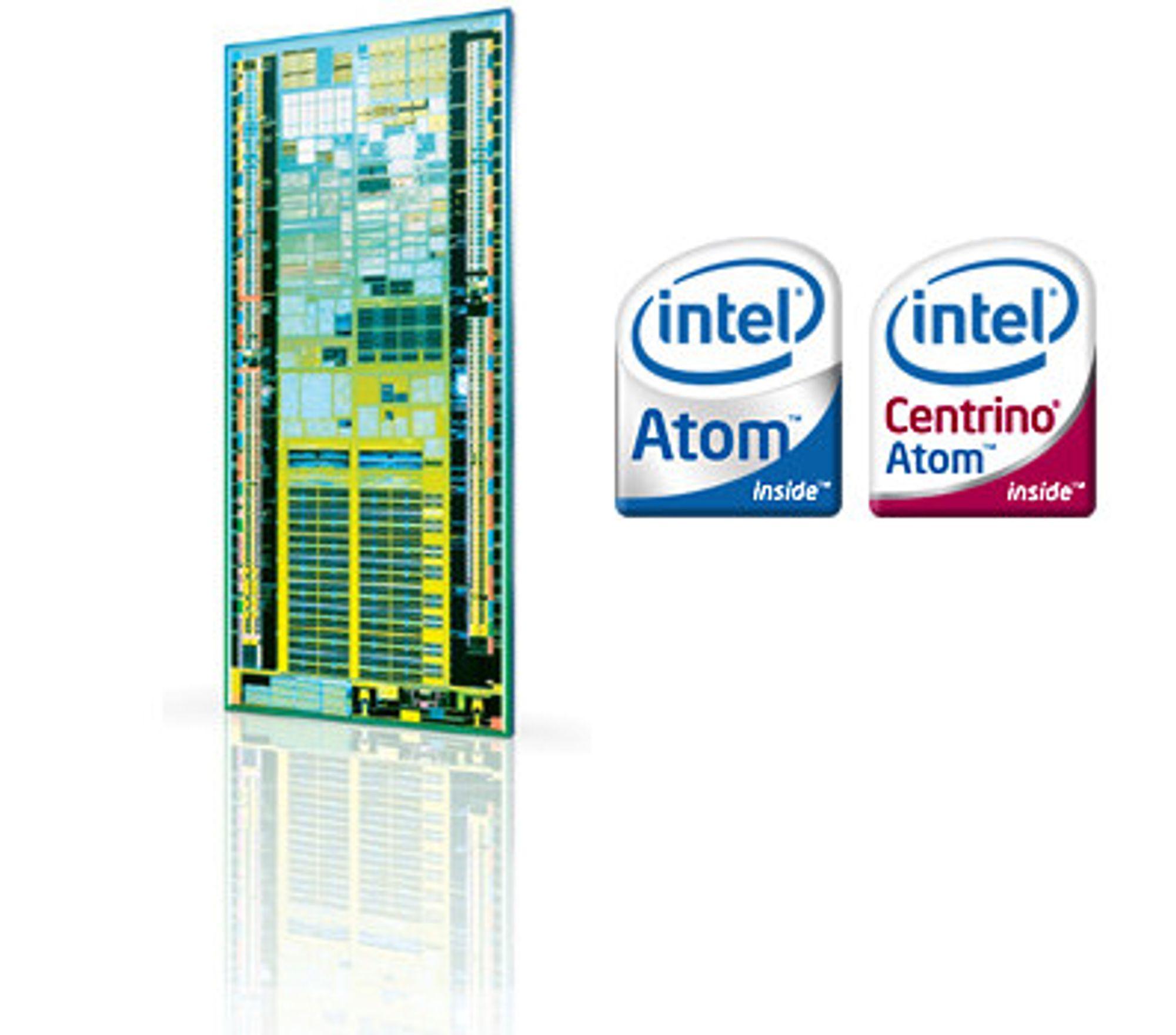 Atom-prosessoren og de nye logoene