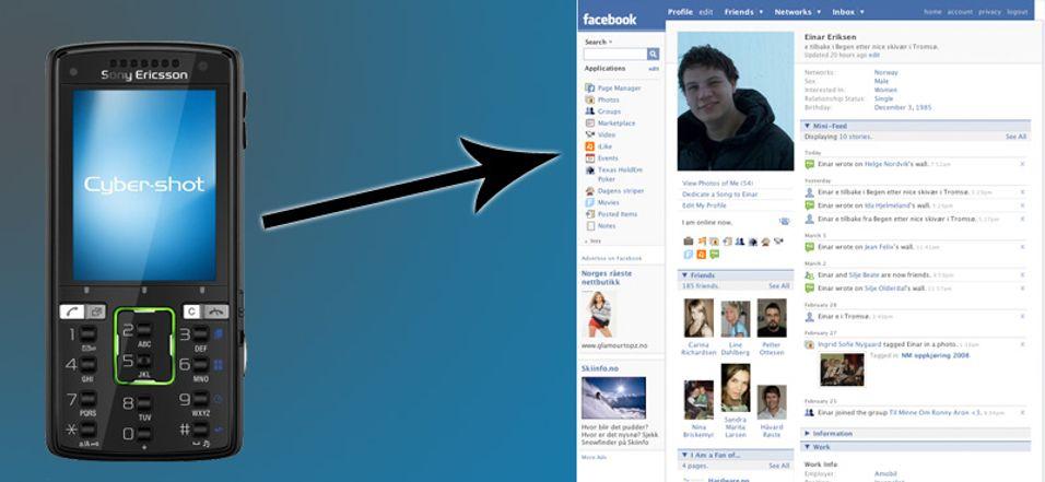 Nå kan du sende MMS fra mobilen til Facebook-profilen din.