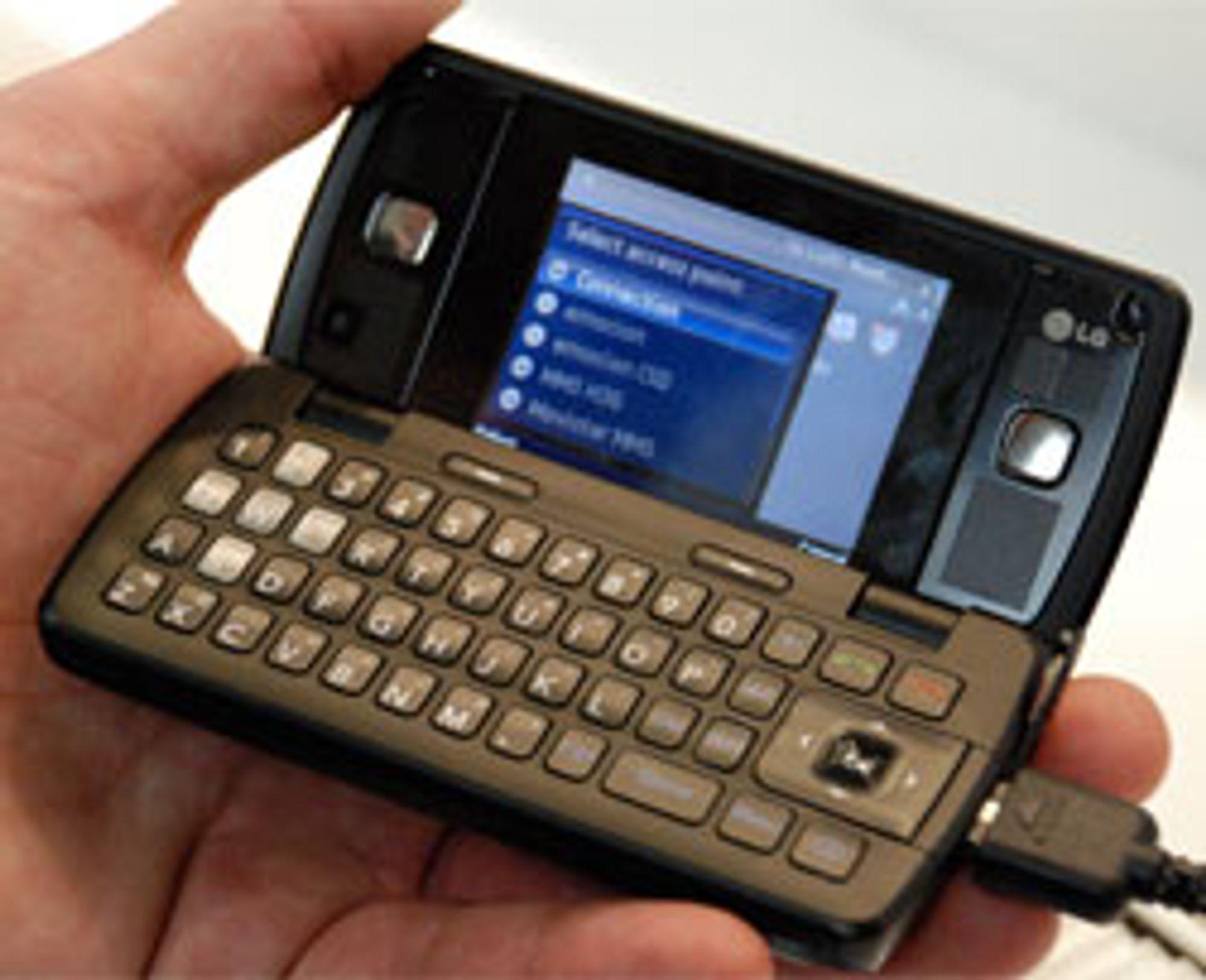 Dette er den første GPS-mobilen LG skal selge her i landet.