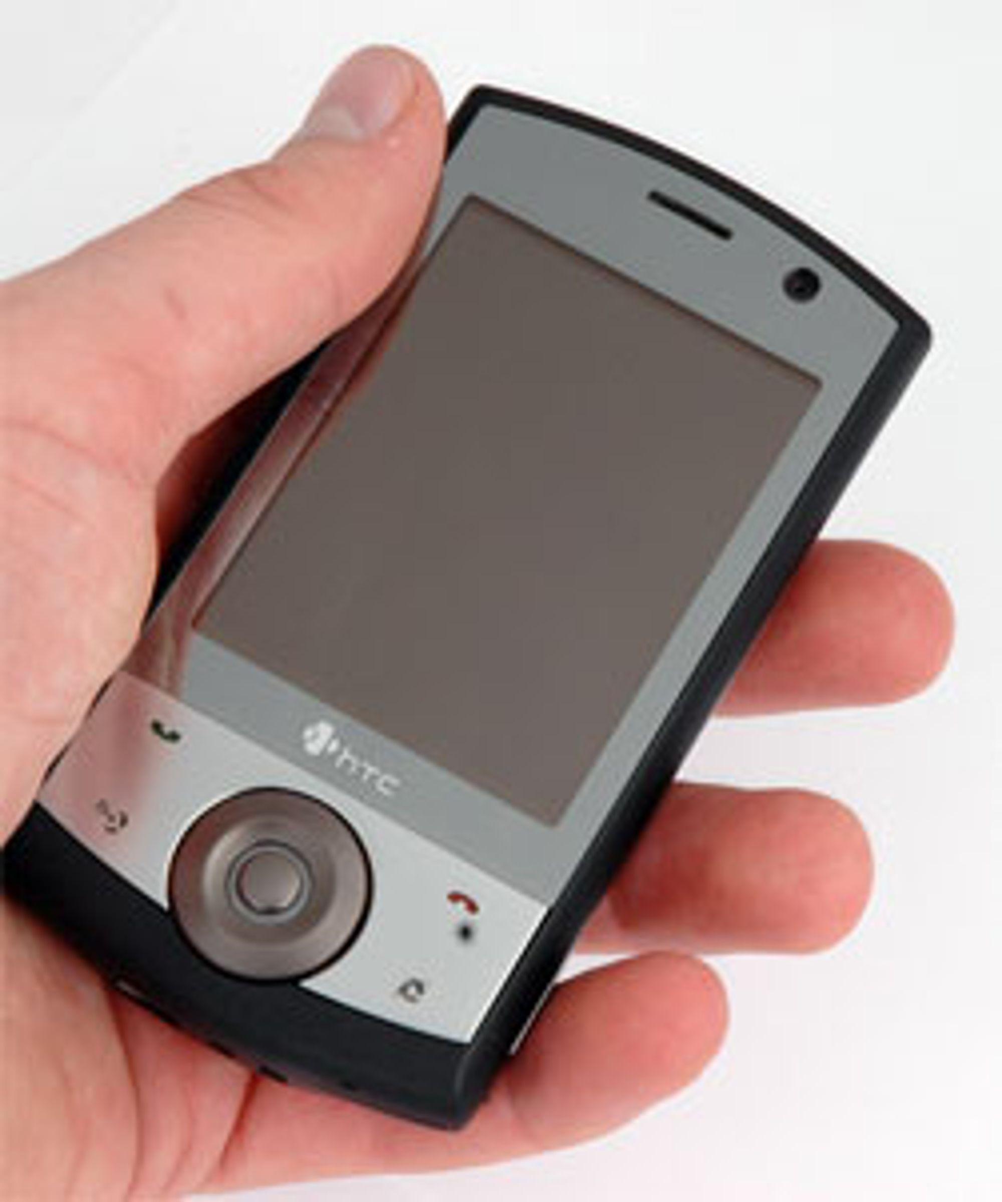 Denne mobilen må du styre rett på skjermen.