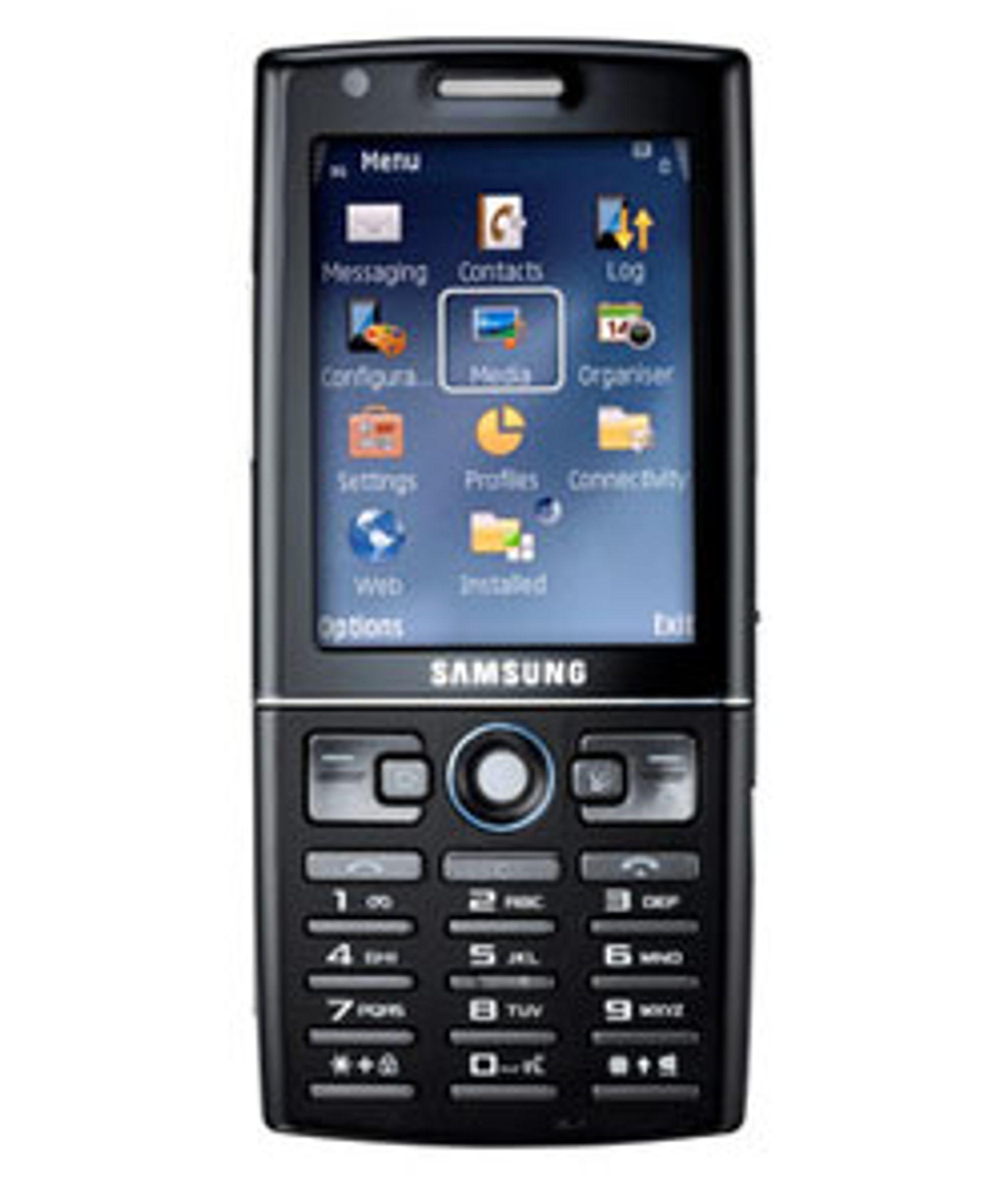 Samsung I550 har samme menysystem som Nokias smarttelefoner.