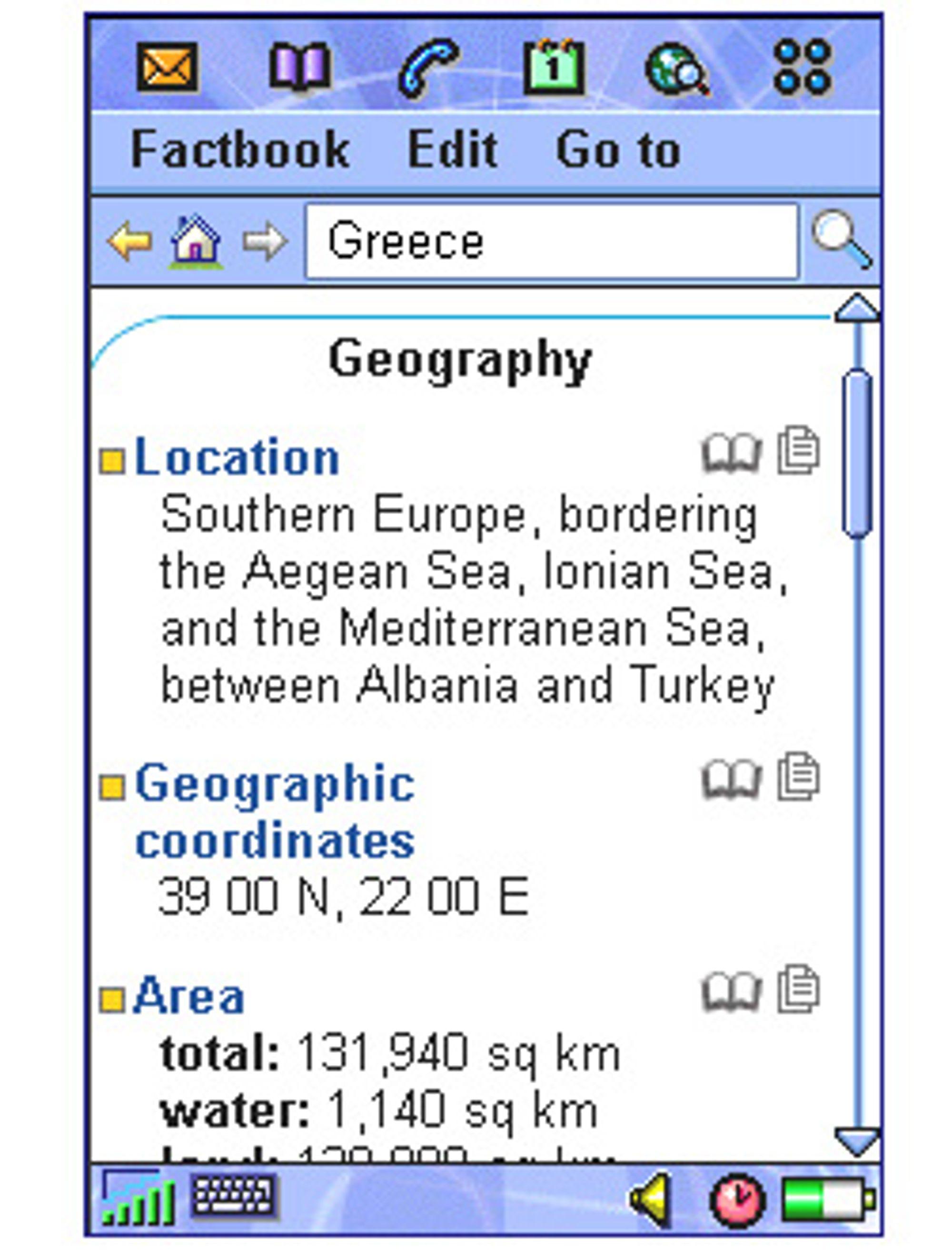 Skjermskudd fra The World Factbook. (Bilde: Softonic)