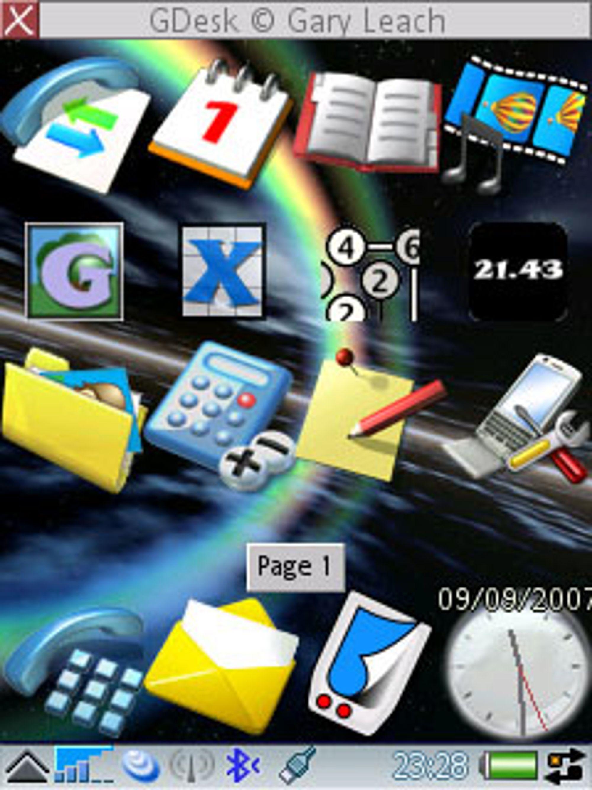 Gdesk lar deg lage nytt skrivebord på mobilen din. (Foto: My Symbian)