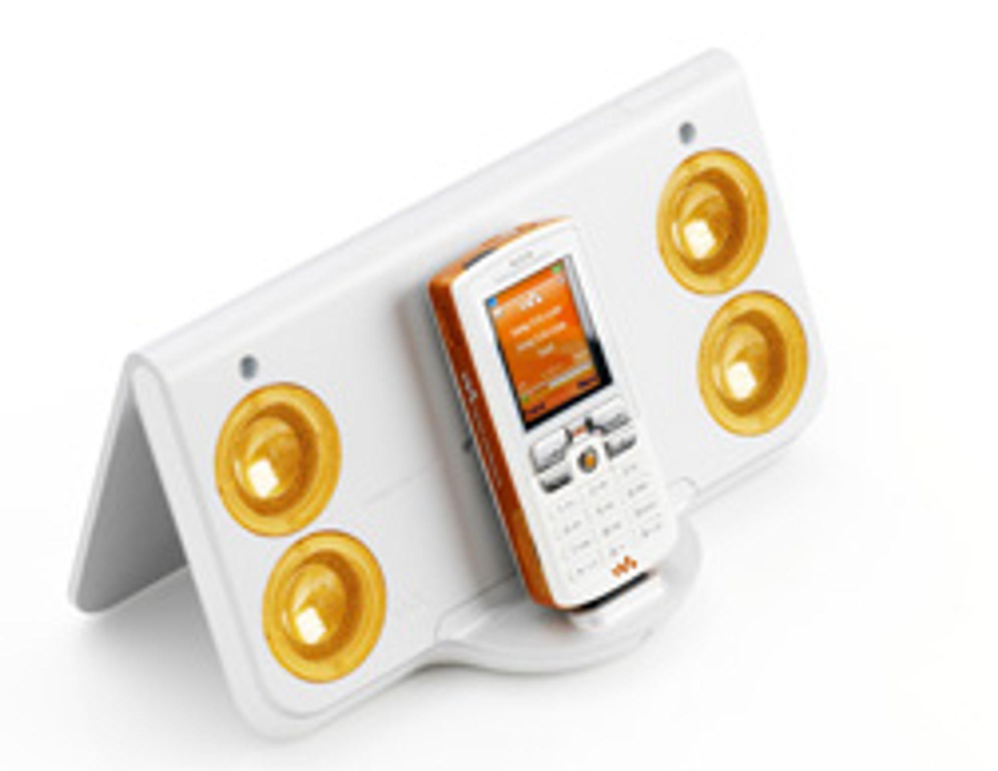 Høyttalere til Sony Ericssons Walkman-telefoner. (Foto: Sony Ericsson)