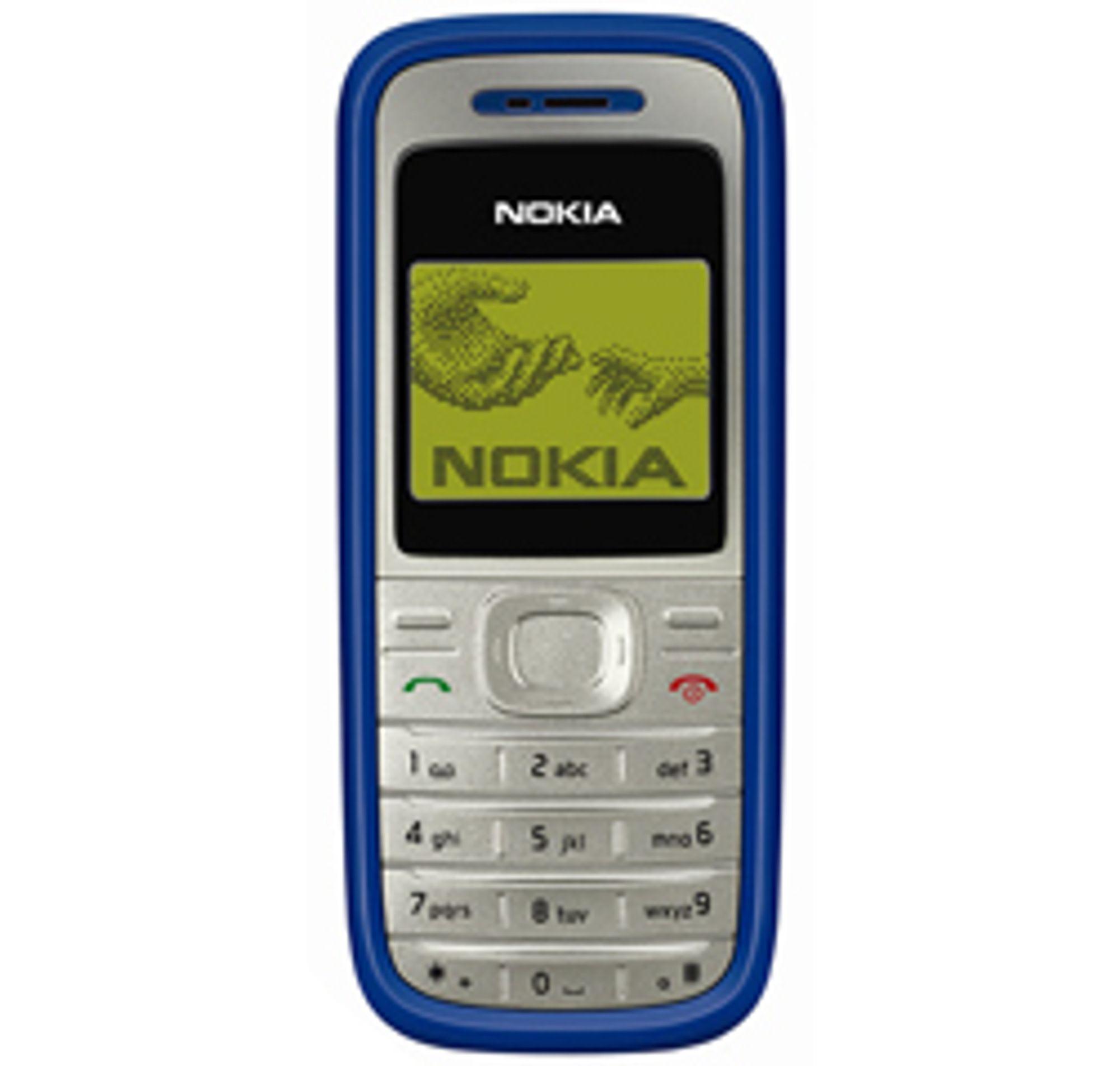 Nokia 1200 er et billig alternativ som er grei til SMS og ringing. (Foto: Nokia)