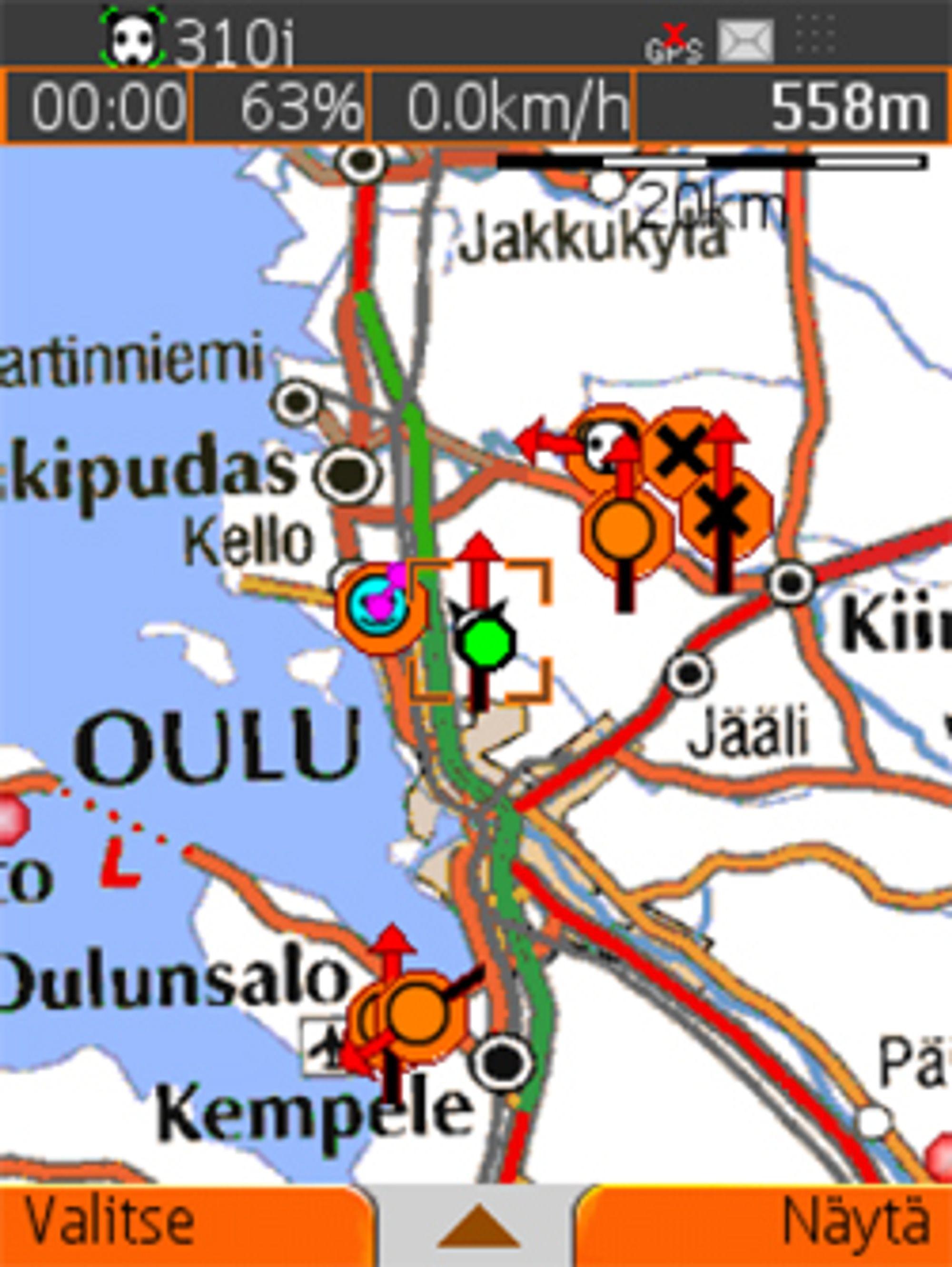 Et kartprogram med topografiske kart er nyttig i fjellet. (Foto: Tracker.fi)