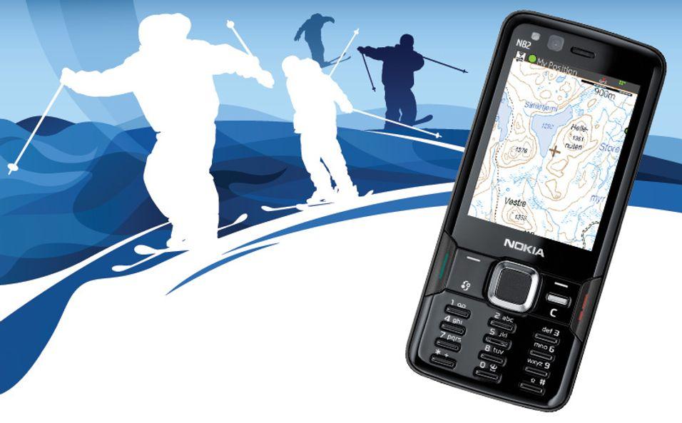 En smarttelefon kan være til god hjelp på påskefjellet.