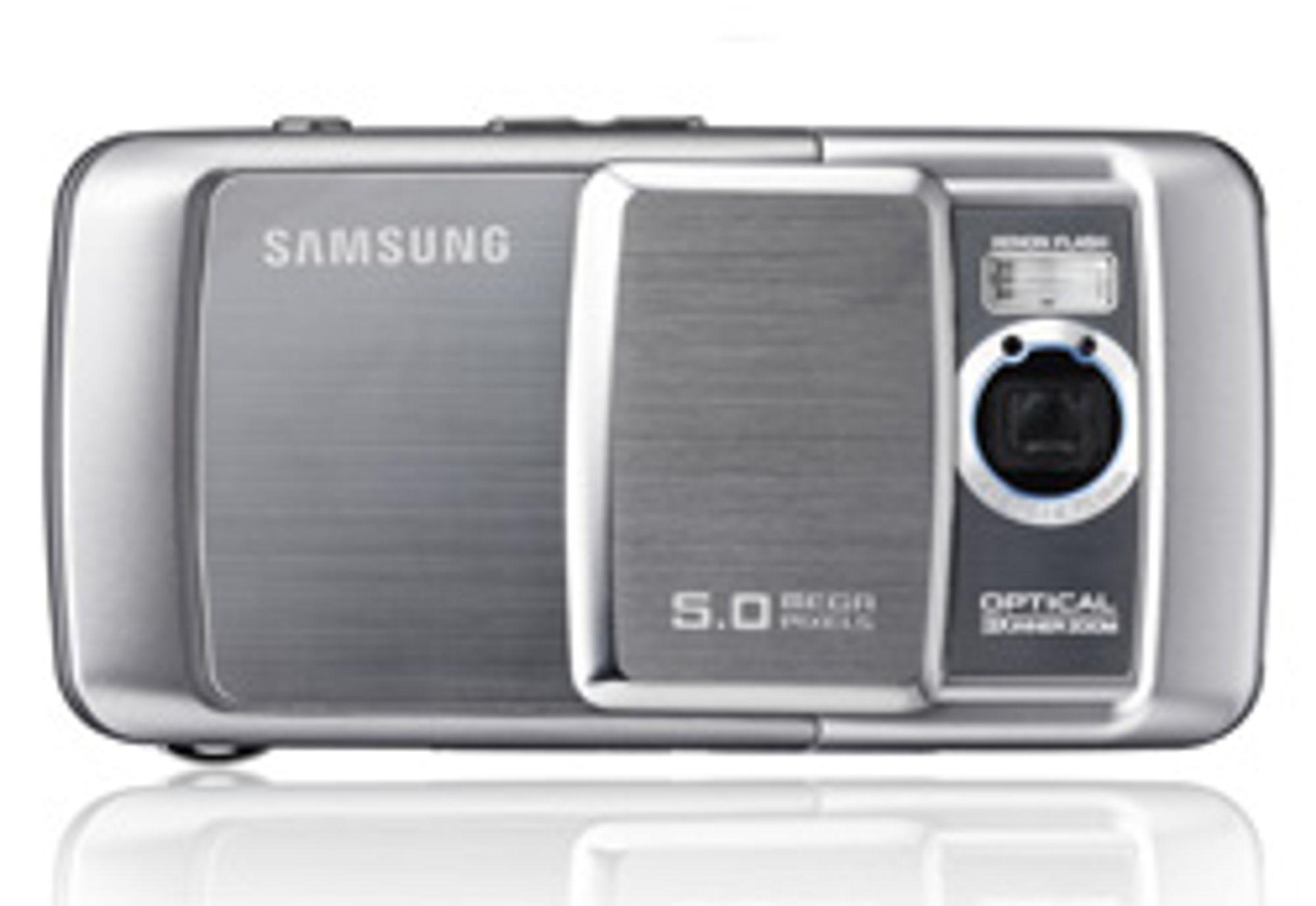 Samsung lager mobilkamera med 8 megapiksler. Om optikken blir bedre er et annet spørsmål. (Foto: Samsung)