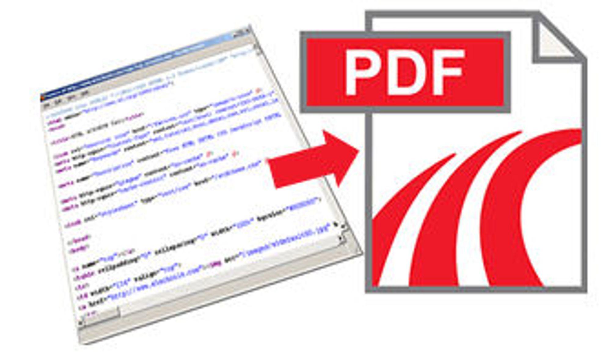 gjør nettside til pdf