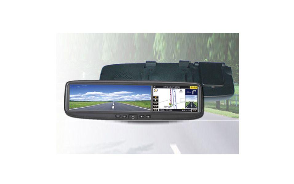 DS-400GB viser både tilbakelagt og kommende kjørerute.