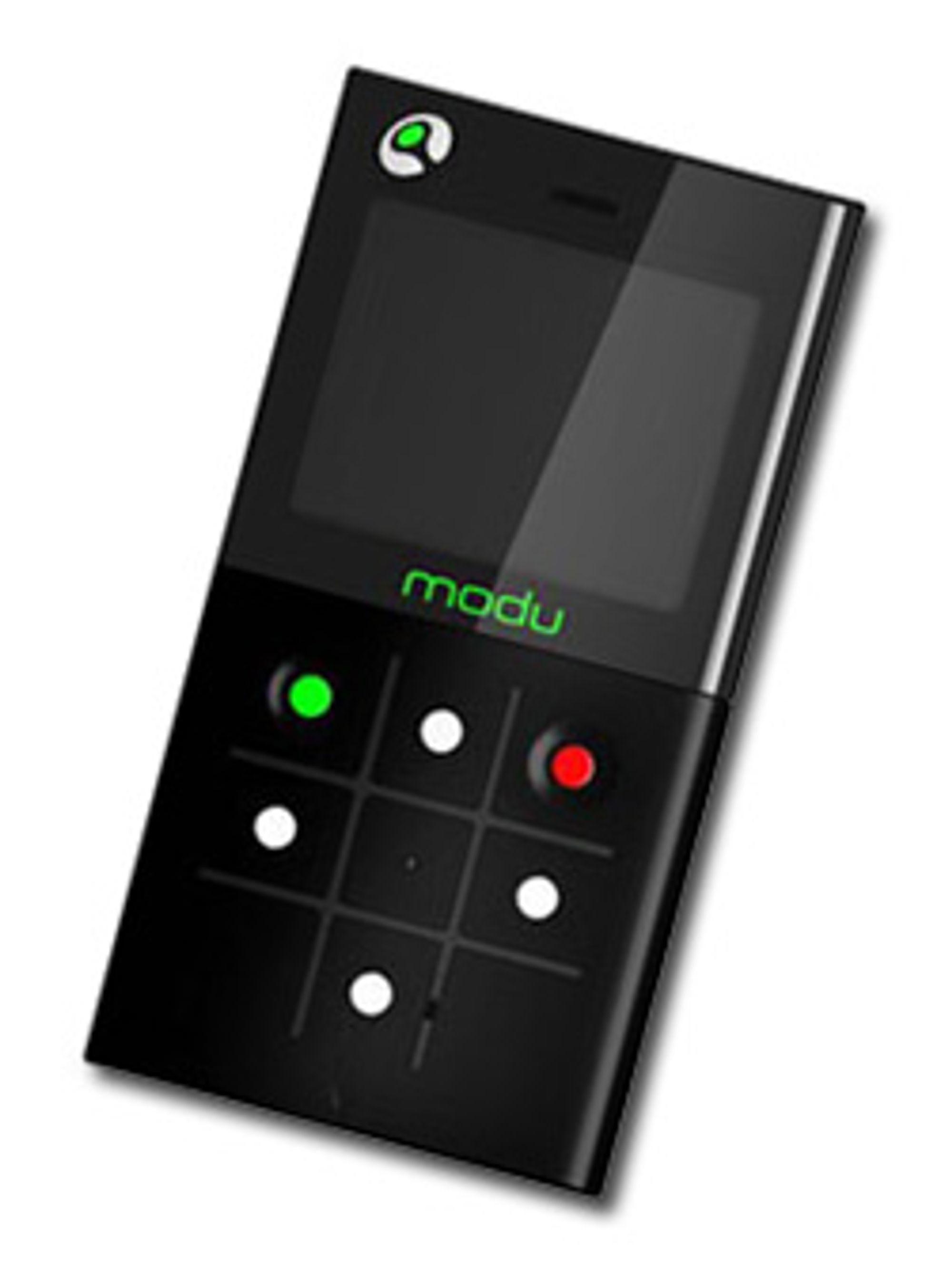 Slik ser verdens letteste mobil ut. (Foto: Yahoo Tech)