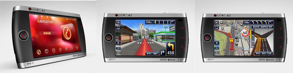 Ikke bare viser den 3D-kart, K2 kan også spille musikk, vise bilder og brukes til spill.