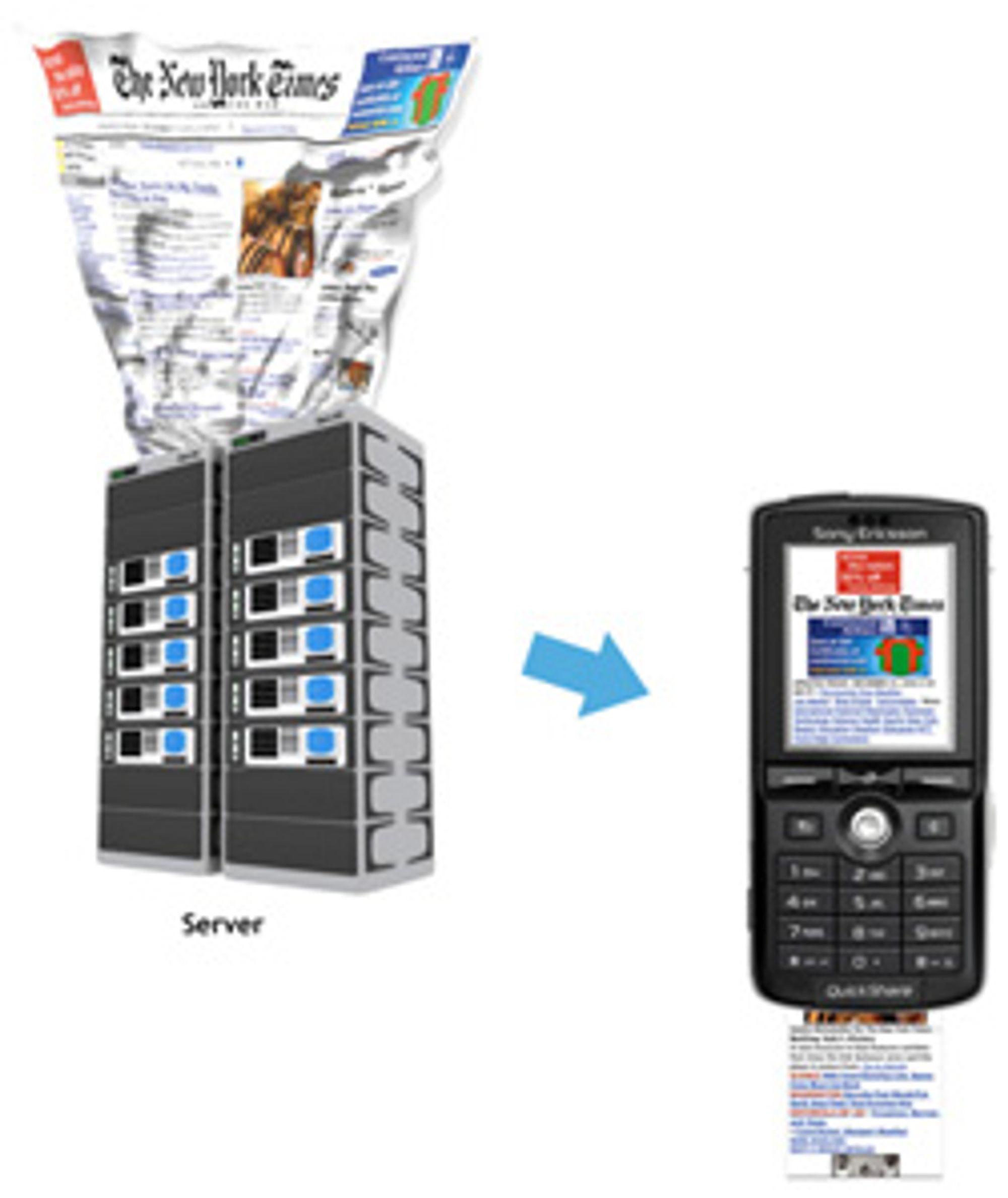 Opera Mini tilpasser vanlige nettsider til mobilen din. (Bilde: Opera)