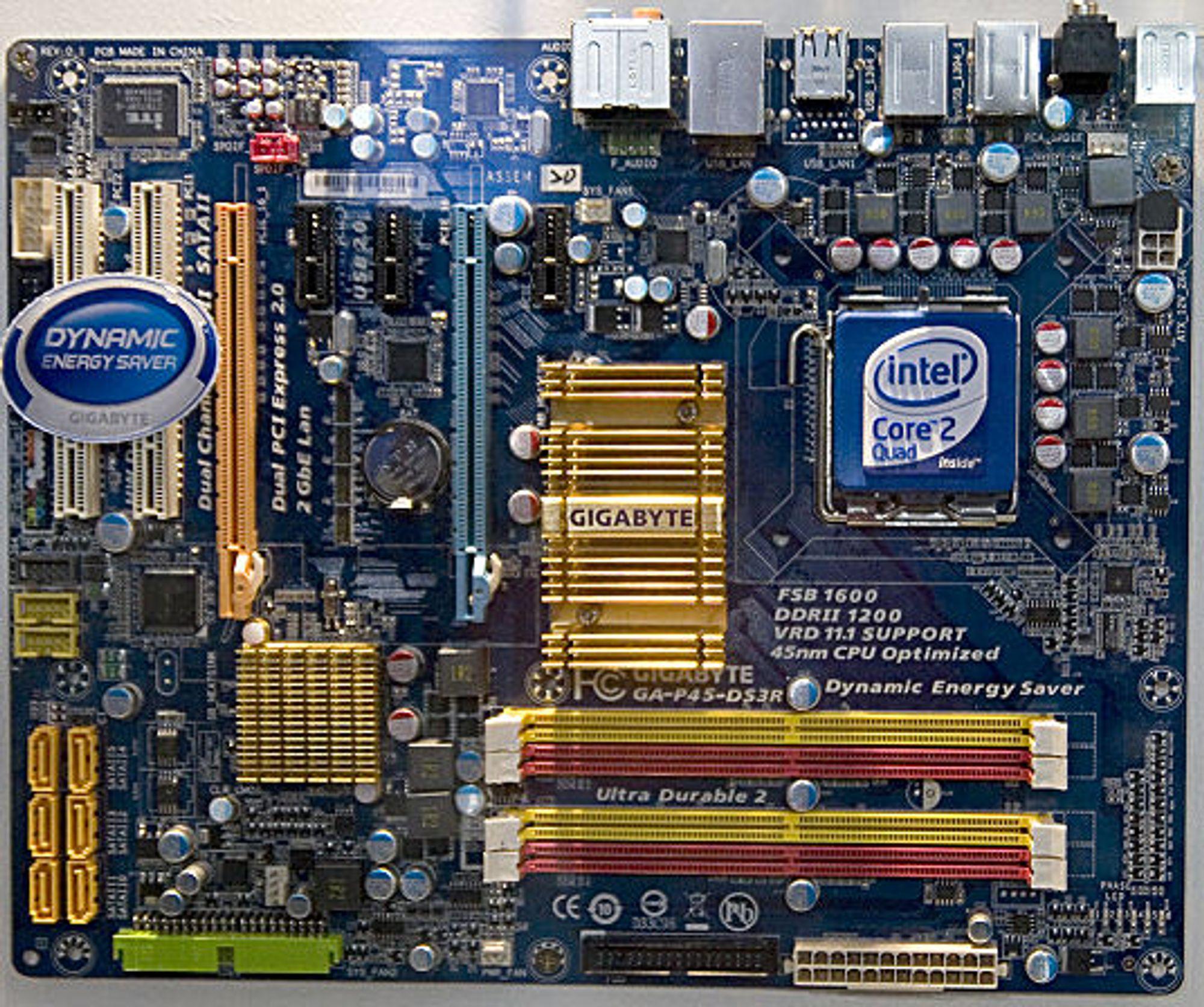Kommende Intel P45-kort fra Gigabyte