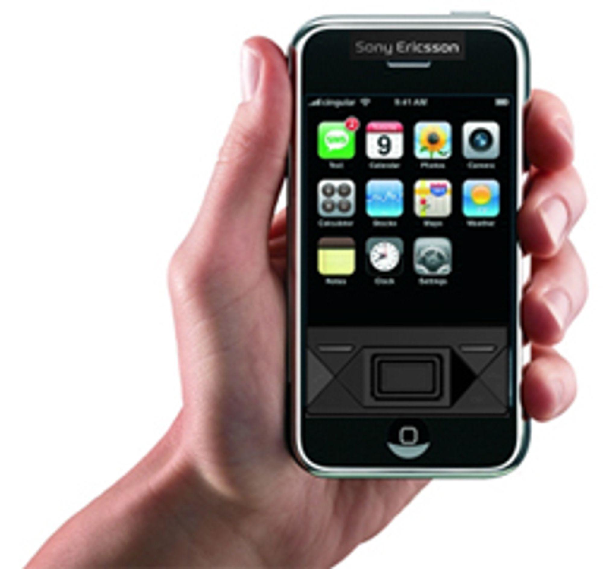 Sony Ericsson X1i + Iphone = denne tvilsomme kreasjonen.