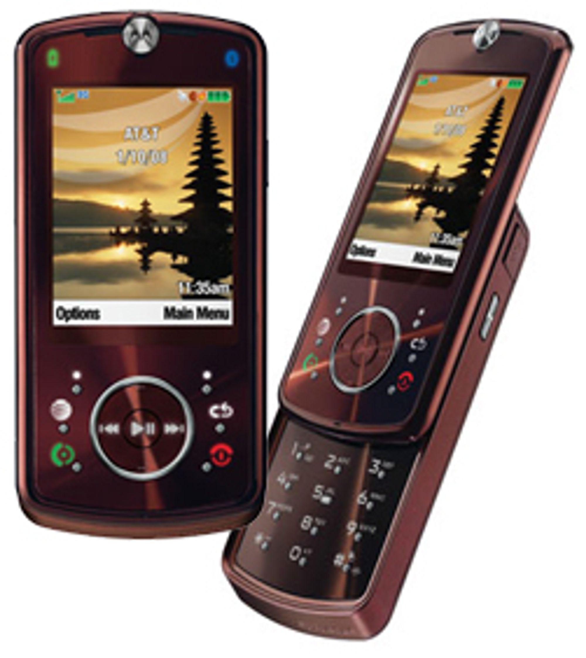Z9 er en skyvetelefon i umiskjennelig Razr-stil.