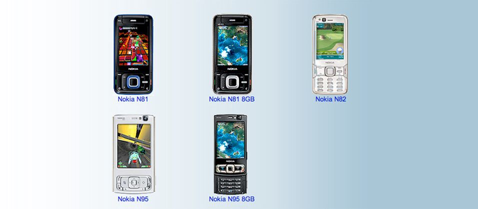 Disse telefonene støtter N-Gage - enn så lenge.