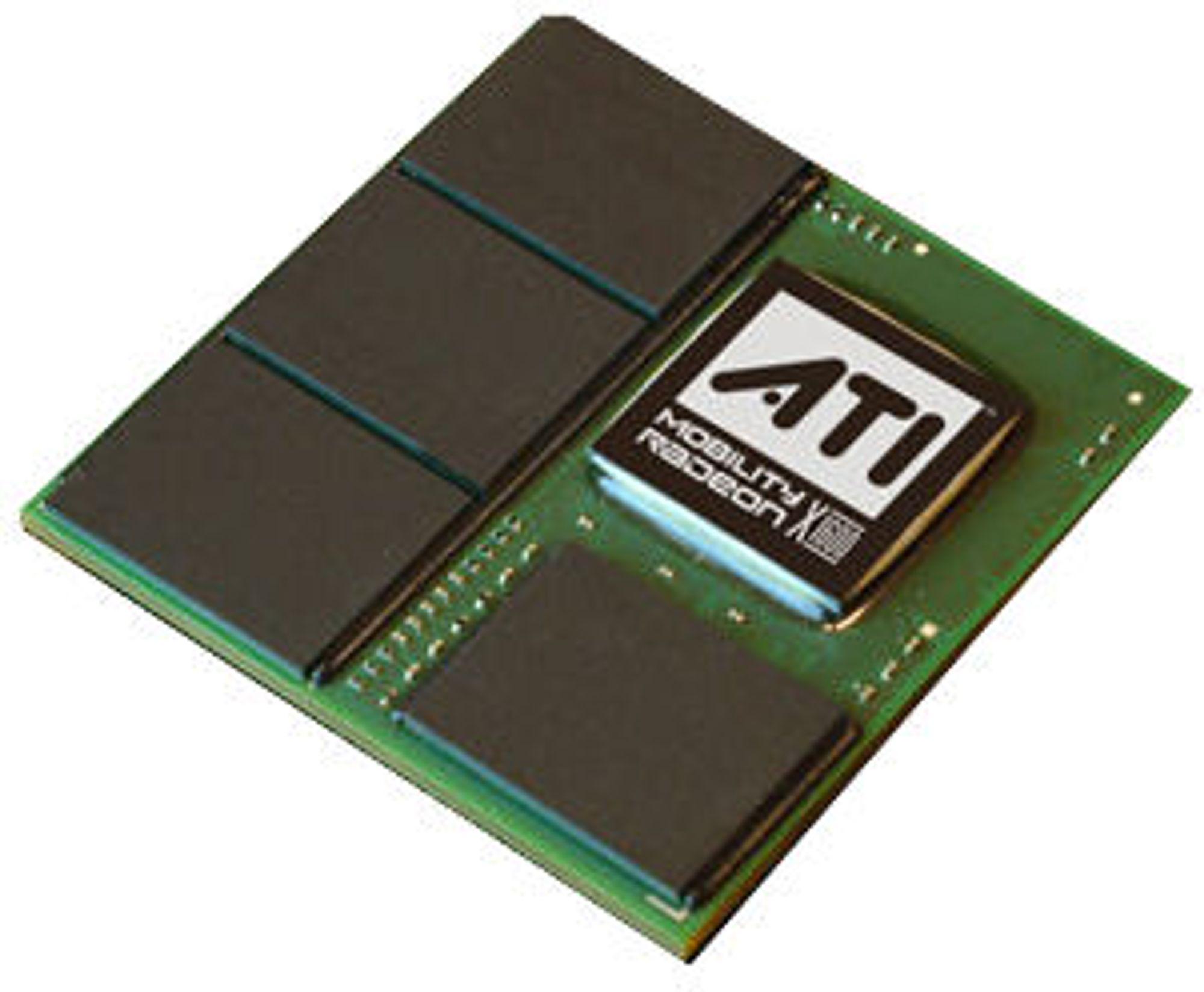 Bildet viser AMD/ATI Mobility Radeon X1600