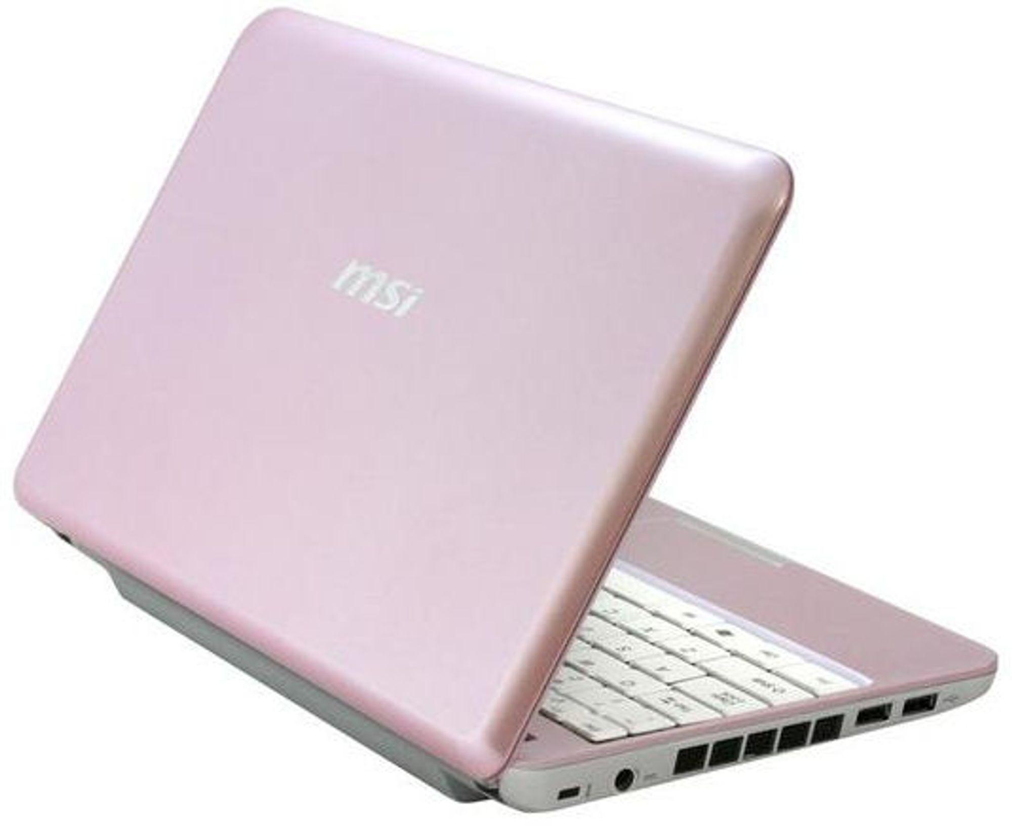 MSI Wind Notebook: Her i rosa drakt