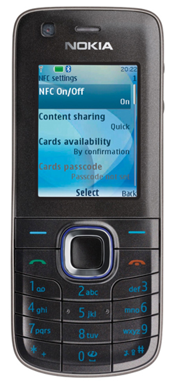 Nokia 6212 har innebygd NFC.