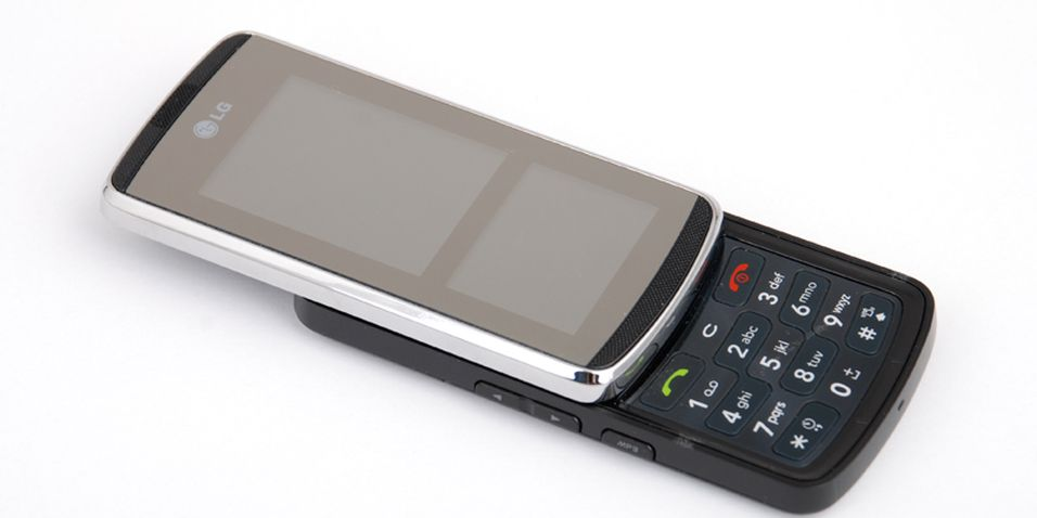 Skjermforsiden blir speilblank når telefonen er inaktiv.