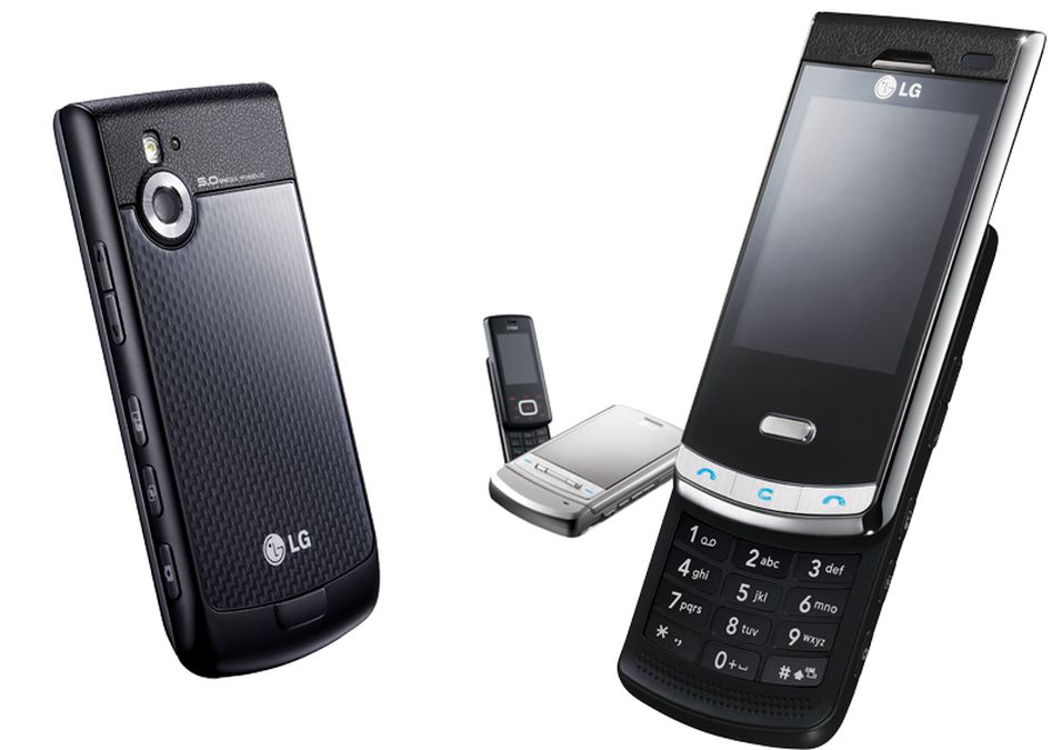 LG KF750 Secret med de to forrige telefonene i Black Label-serien.