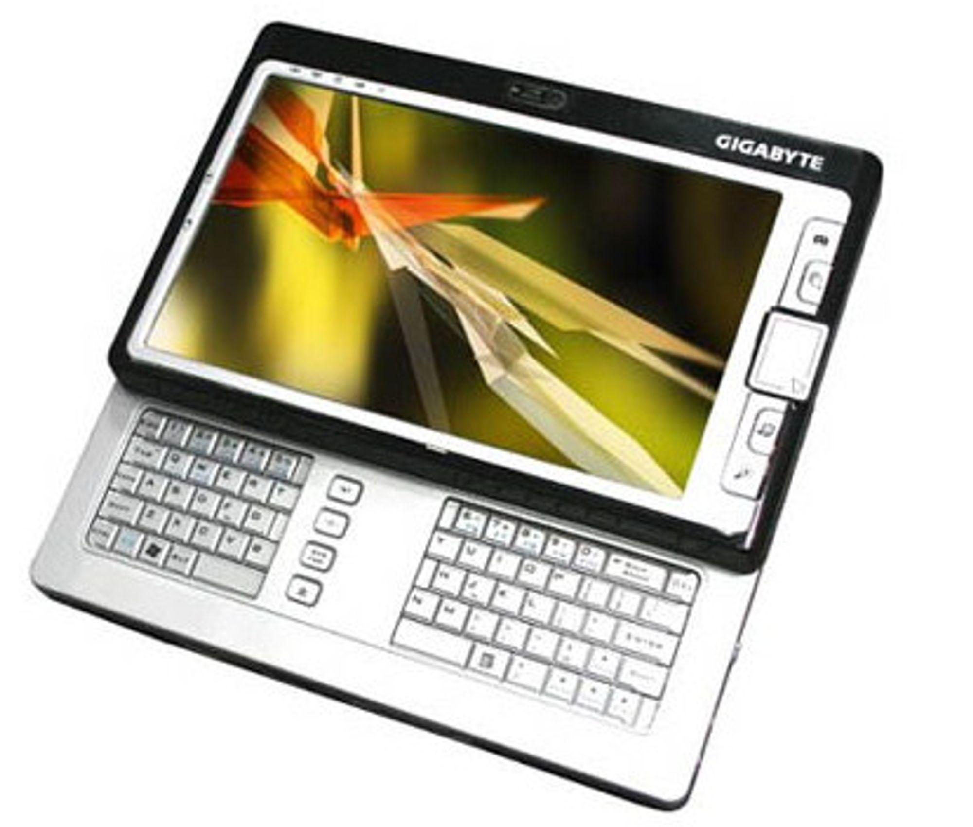 Bildet viser Gigabytes UMPC, M704