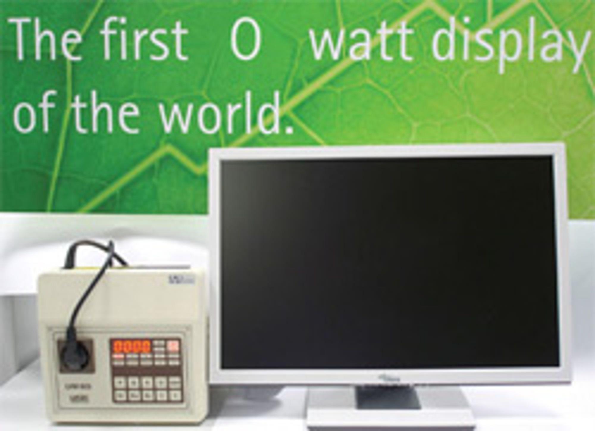 Her er Null-Watt-skjermen. (Bilde: physorg)