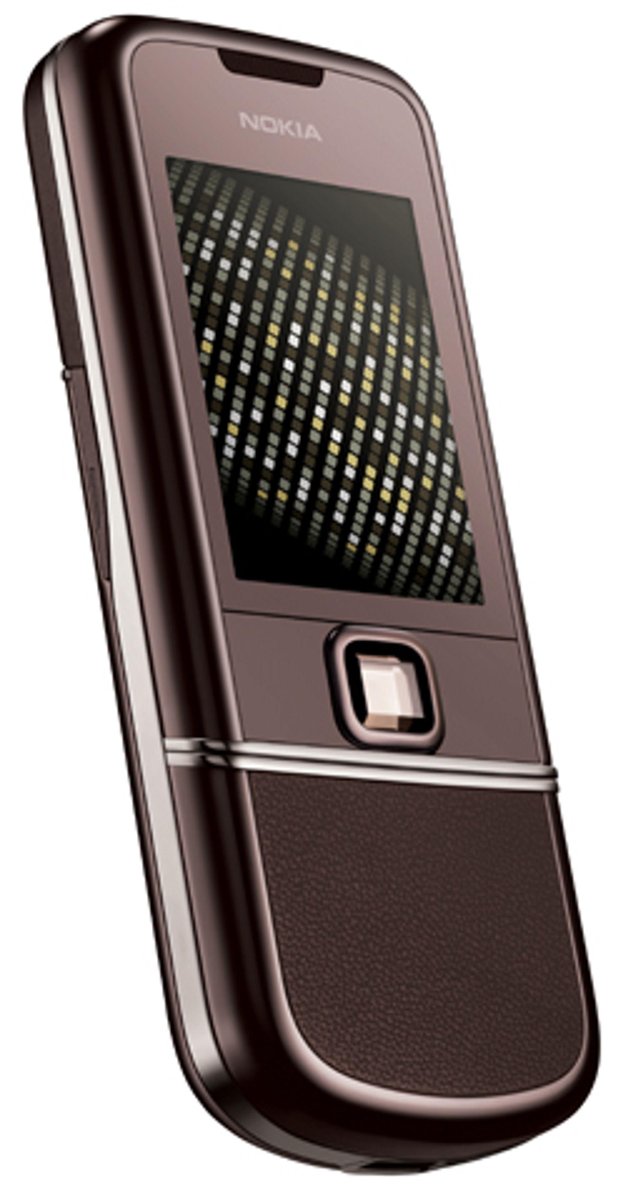 Nokias 8800-serie byr på mye metall og glitter.