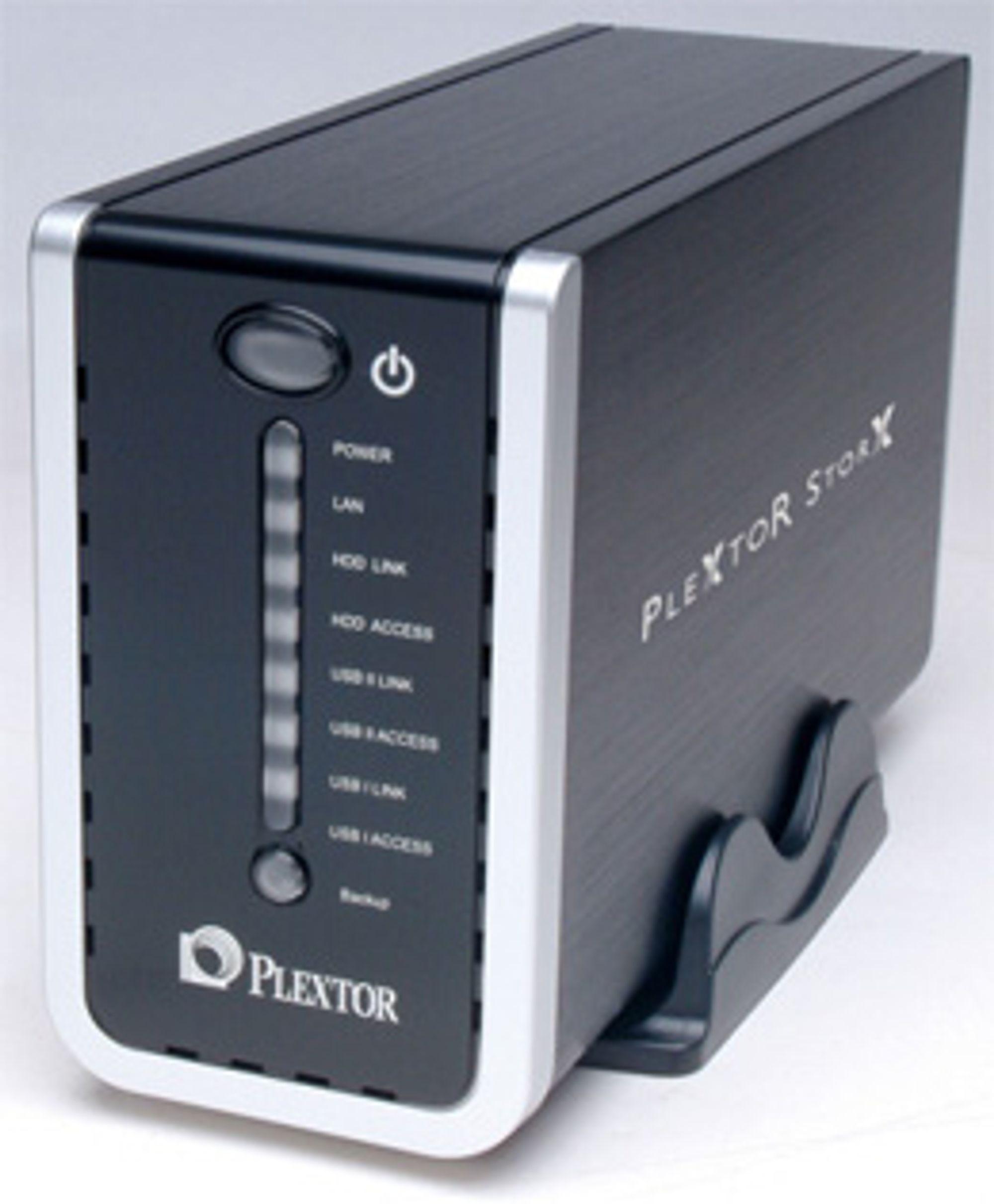 Plextors nye NAS-enheter. (Foto: Plextor)