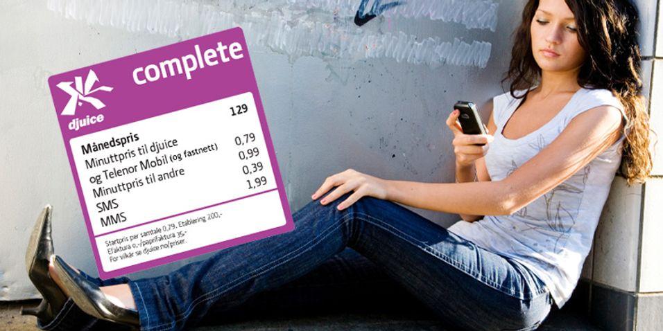 Djuice Complete skal rette seg mot ungdom som er glad i SMS.