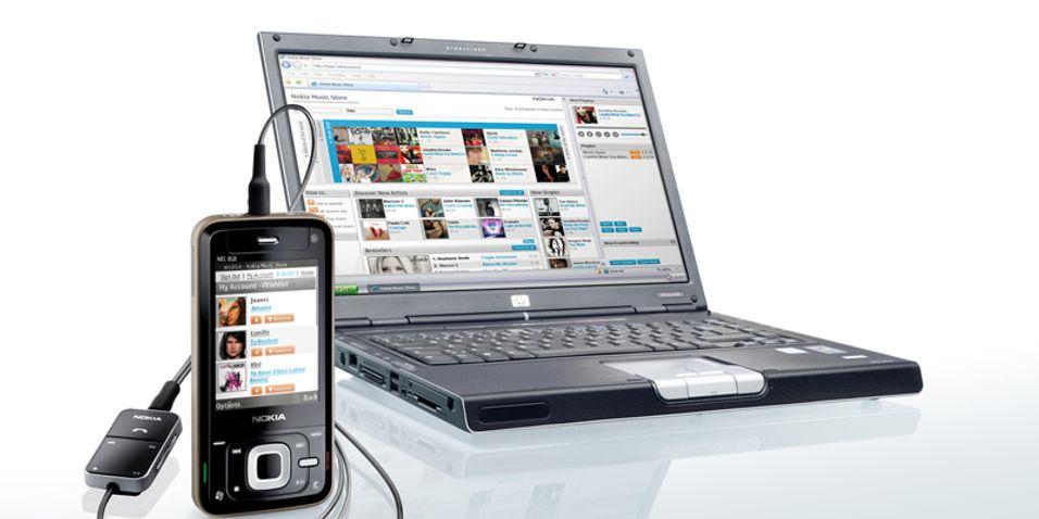 Nokia Music Store lar deg også laste ned til datamaskinen.