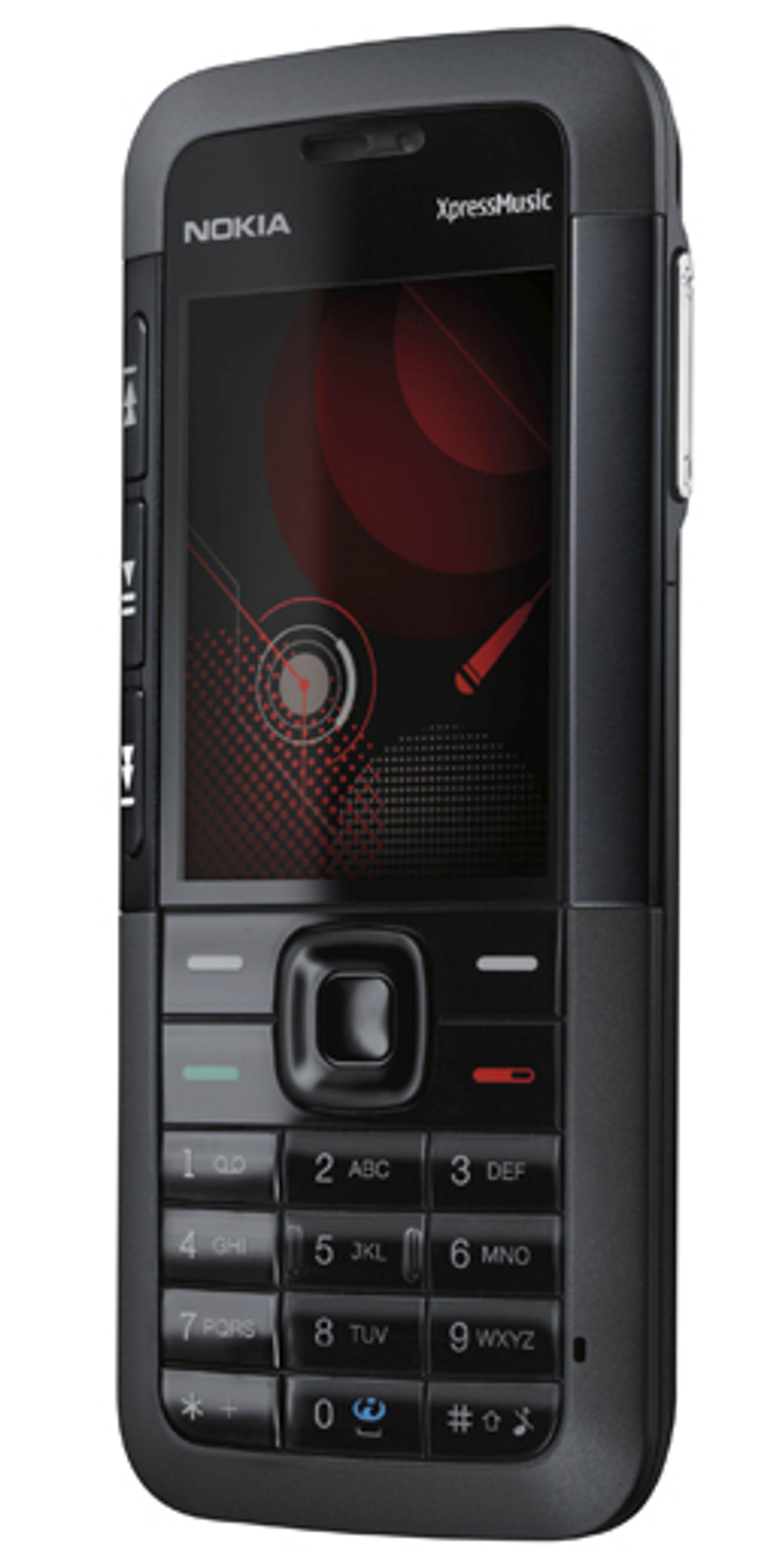 ...og Nokia 5310 har det: 3,5 mm minijack innebygget.