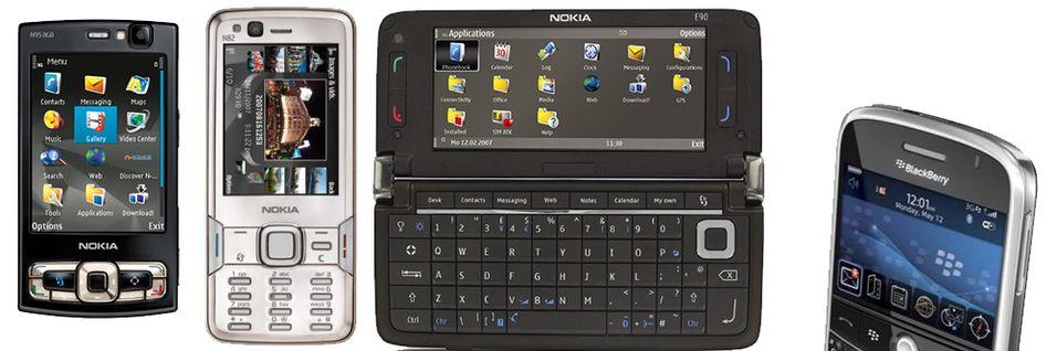 Nokia er desidert størst, men RIM sniker seg oppover på salgslistene.