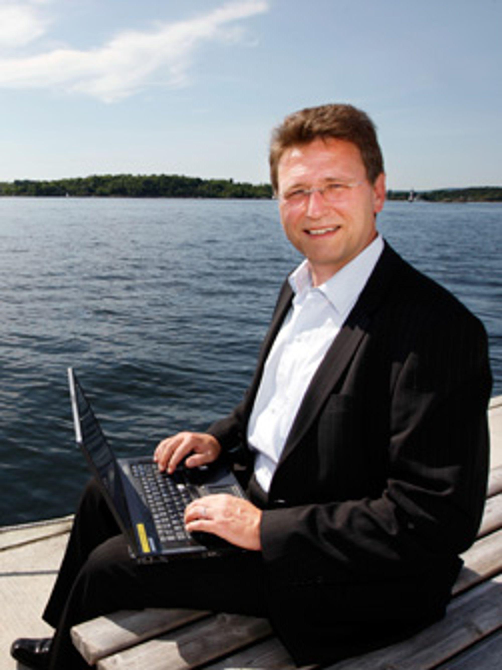 Matthias Peter sier at Boomer Cell kan forbedre dekningen, spesielt til sjøs.