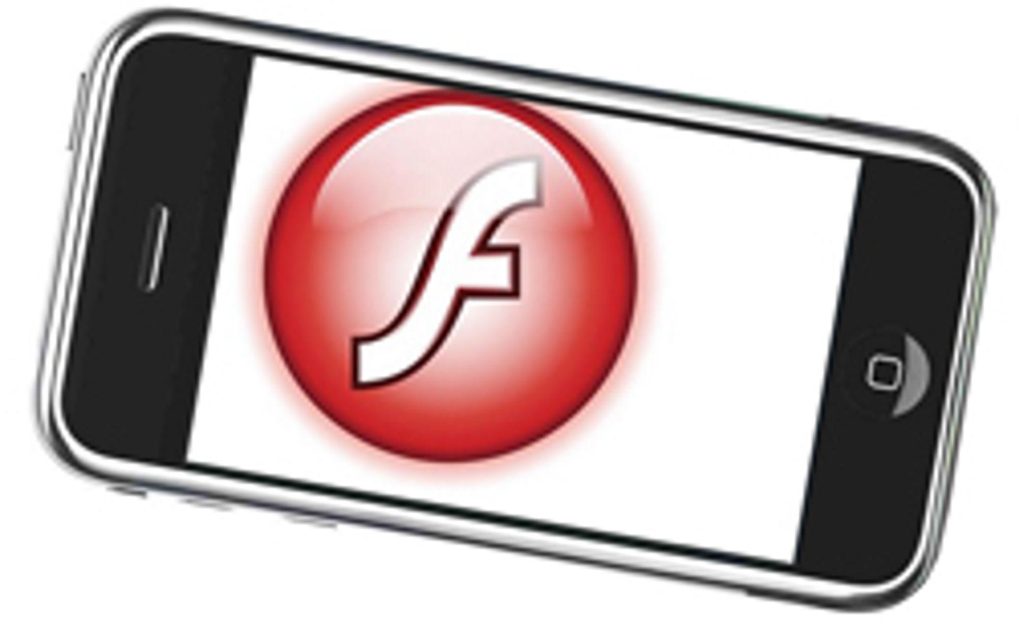 Fortsatt ikke Flash i Safari-nettleseren.