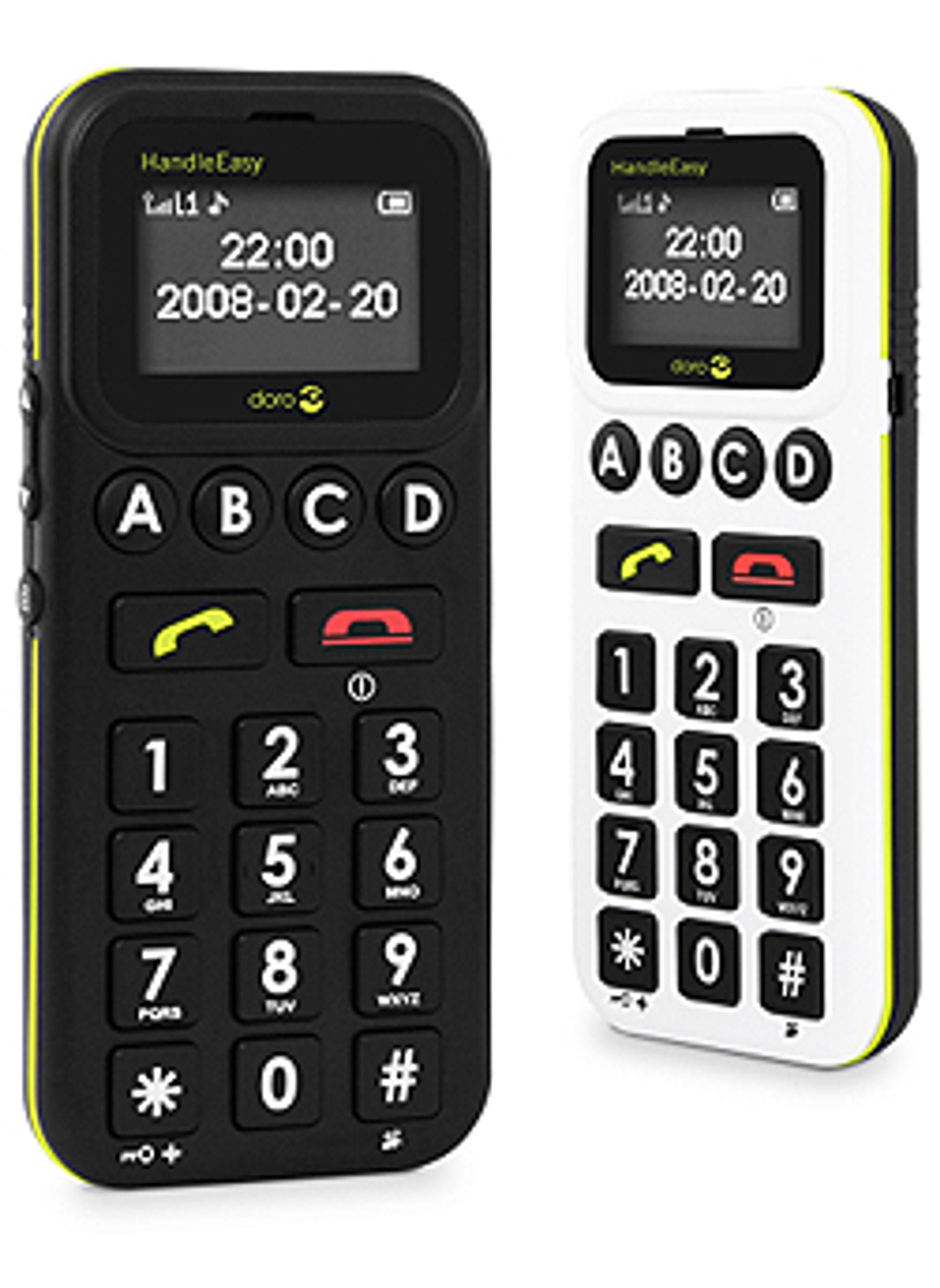 Doro lanserer også en enklere telefon du kan ringe med.