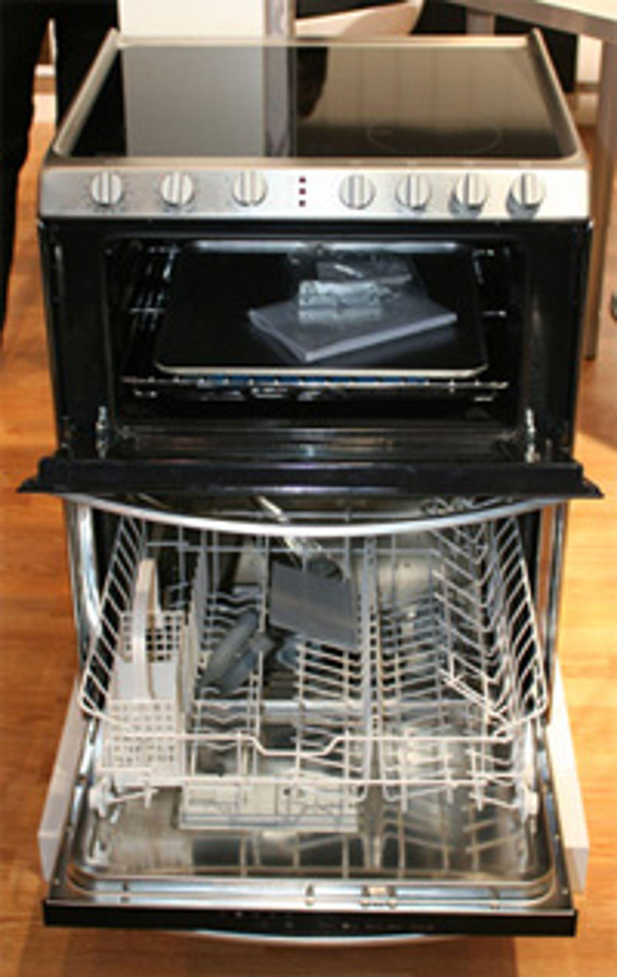 komfyr med oppvaskmaskin