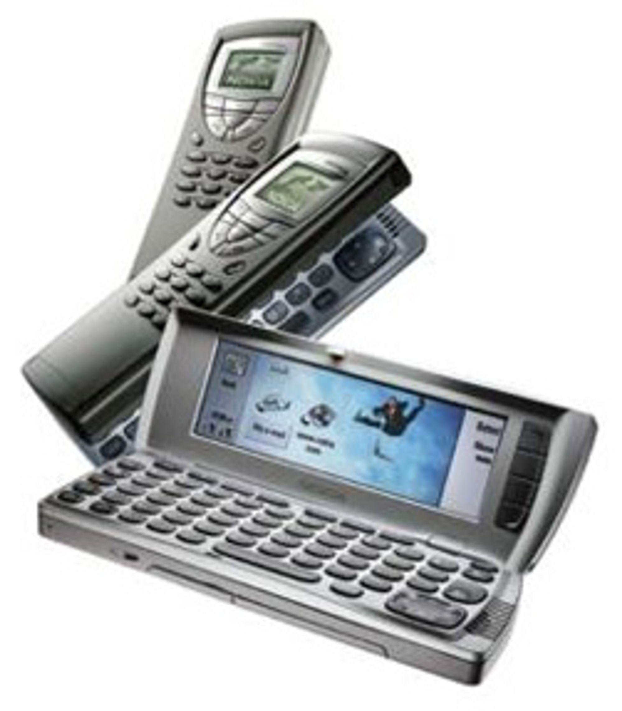 Nokia var neste, med sin første kommunikator-mobil.