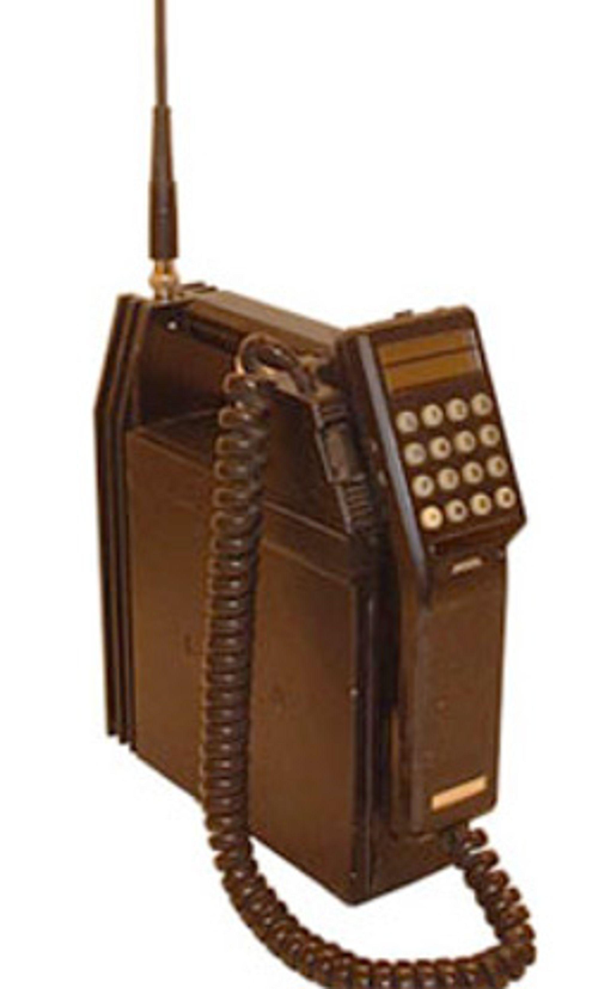 Nokia Mobira Talkman ble lansert i 1985. Denne telefonen kunne du ha med deg hvor du enn hadde tenkt deg.