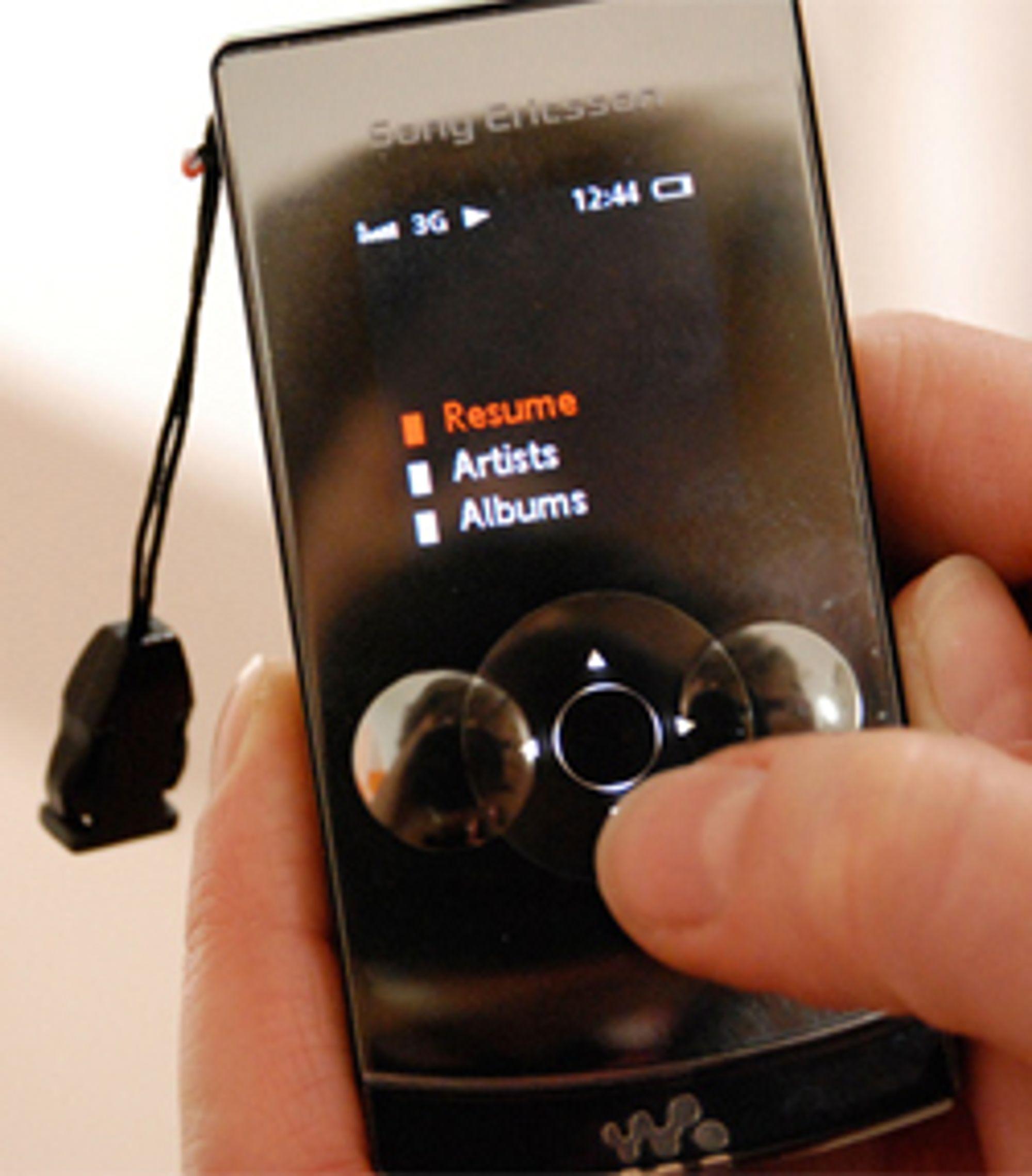 Musikktastene lar deg styre musikken. (Foto: Silje Gomnæs)