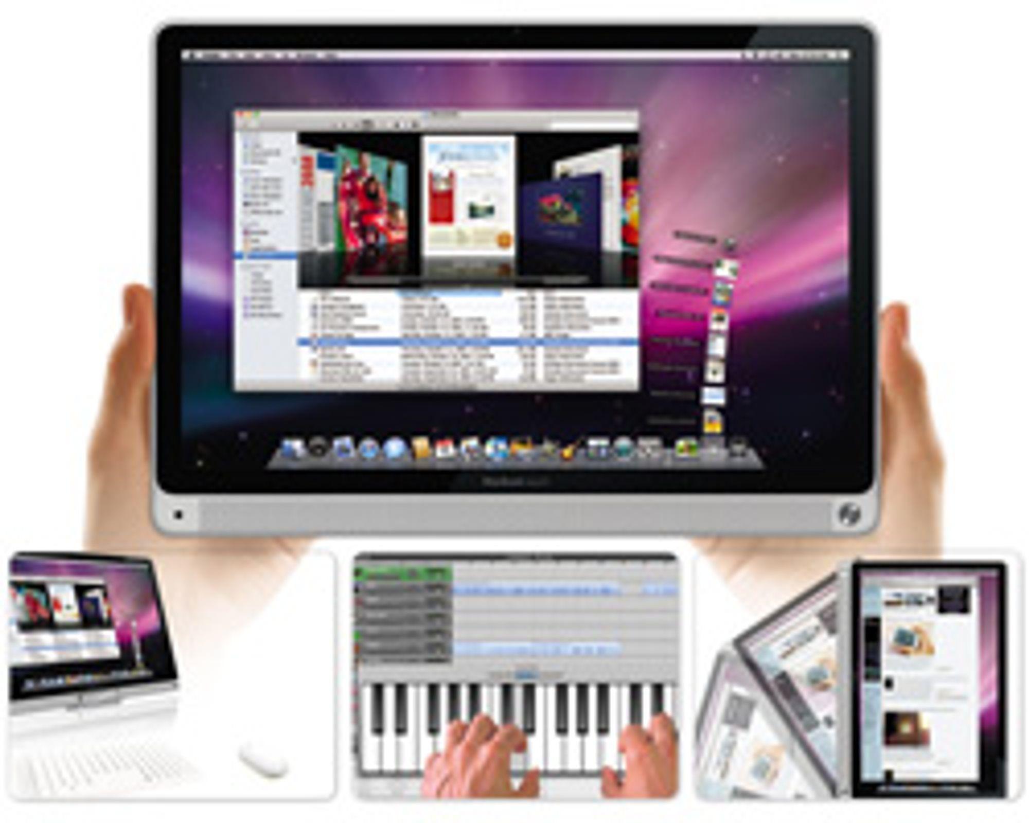 Slik kan den trykkfølsomme Macbook se ut. (Bilde: Gizmodo)