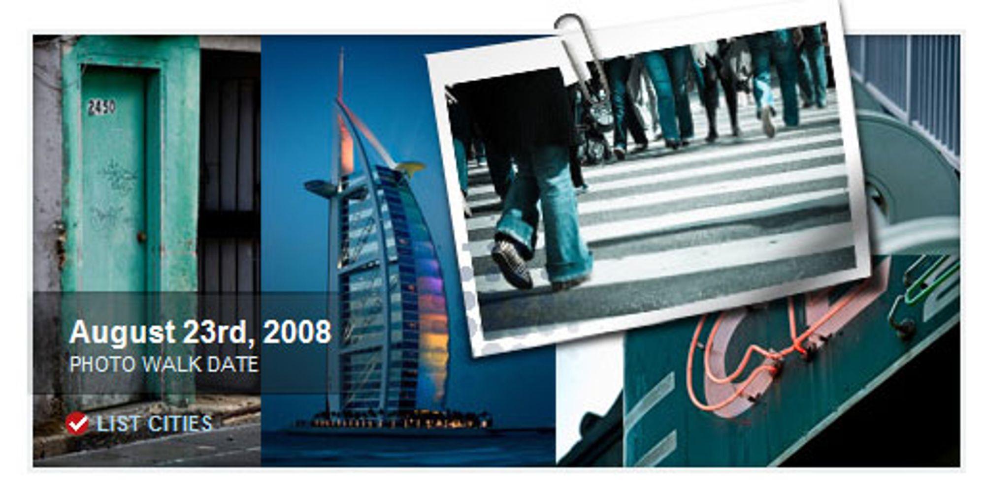 Over 170 byer i hele verden arrangerer Photowalk på samme dag.