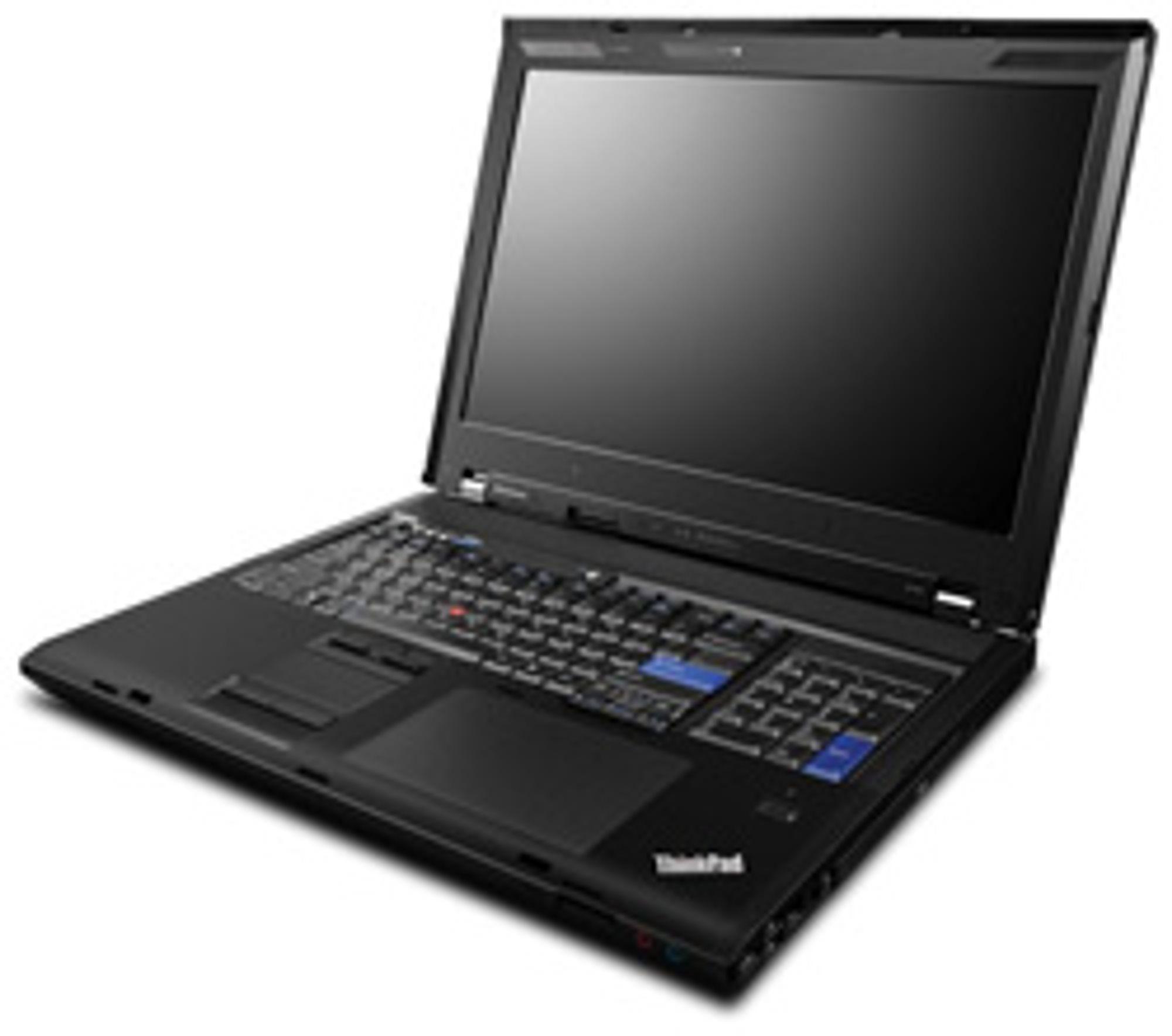 Lenovos Thinkpad W700 har to tastesett. (Foto: Lenovo)