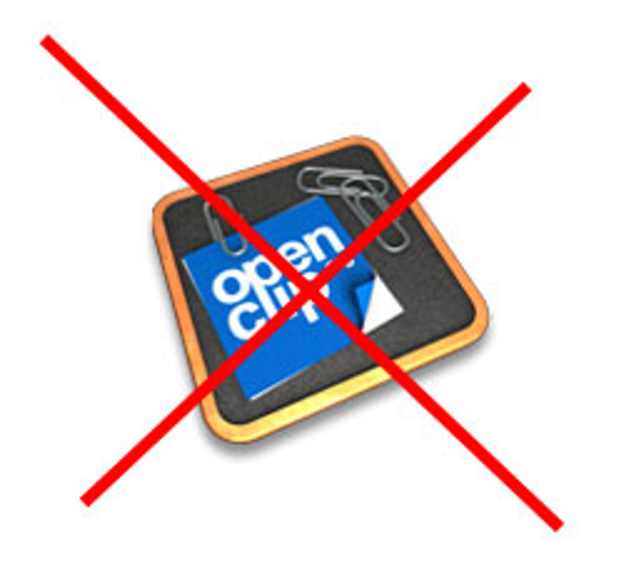 Openclip blir nærmest ubrukelig i Iphone 2.1-programvaren.