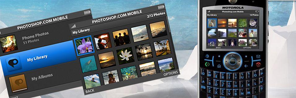 Adobe Photoshop.com Mobile til mobilen.