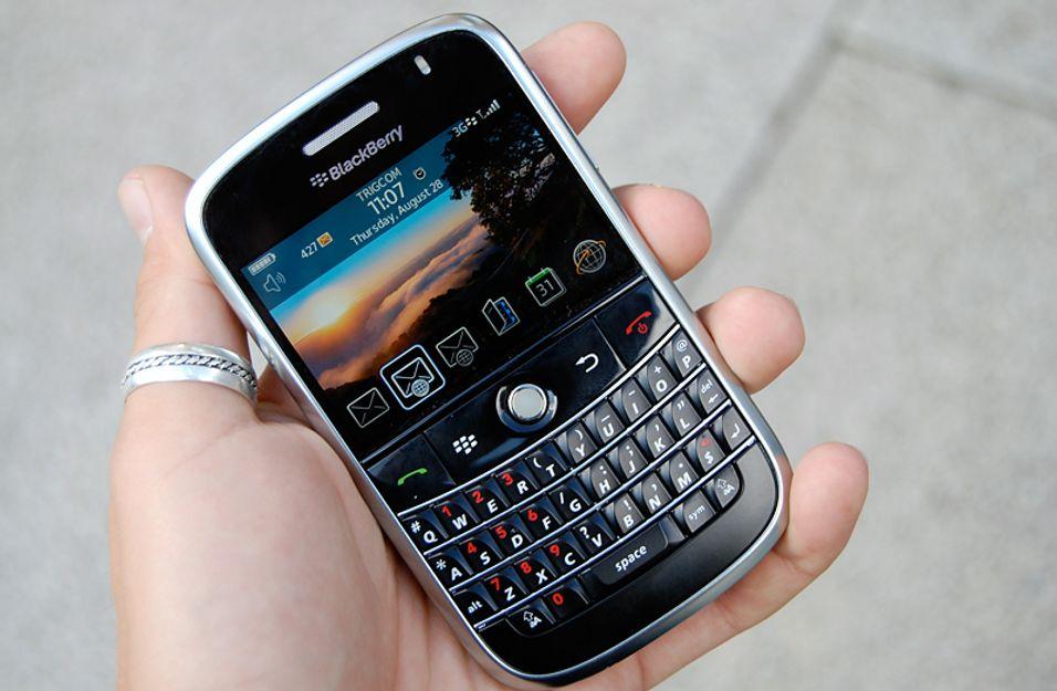 E-posttelefonene fra RIM har vanligvis fulltastatur, slik at det går kjapt å skrive e-post.